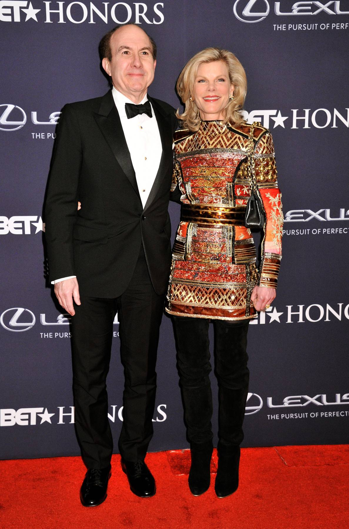 The President and First Lady  - President and CEO of Viacom Philippe Dauman and Deborah Dauman look snazzy for The BET Honors ceremony. (Photo: Kris Connor/BET/Getty Images for BET)
