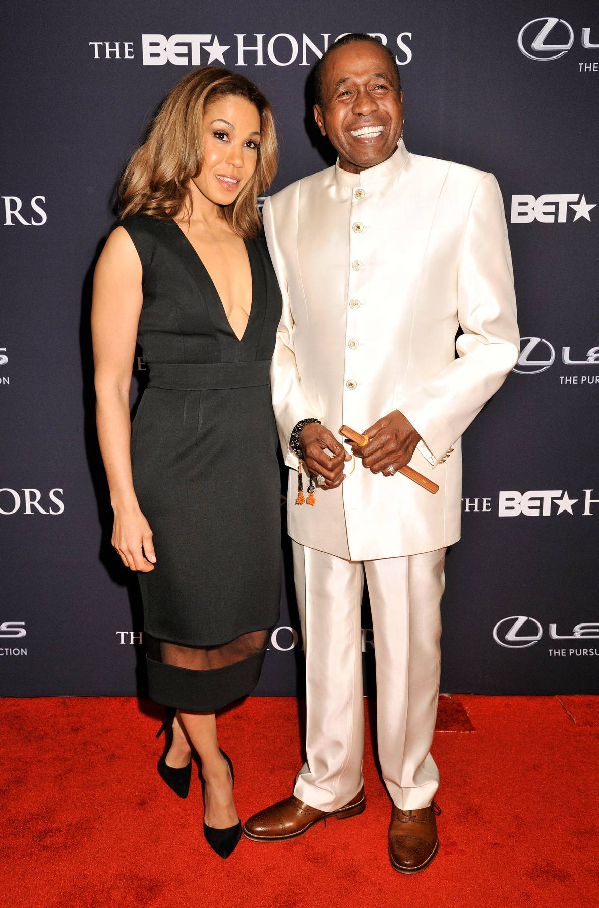 All Smiles  - Kabara Vereen and actor Ben Vereen hit the red carpet showing off their bright smiles for the camera. (Photo: Kris Connor/BET/Getty Images for BET)