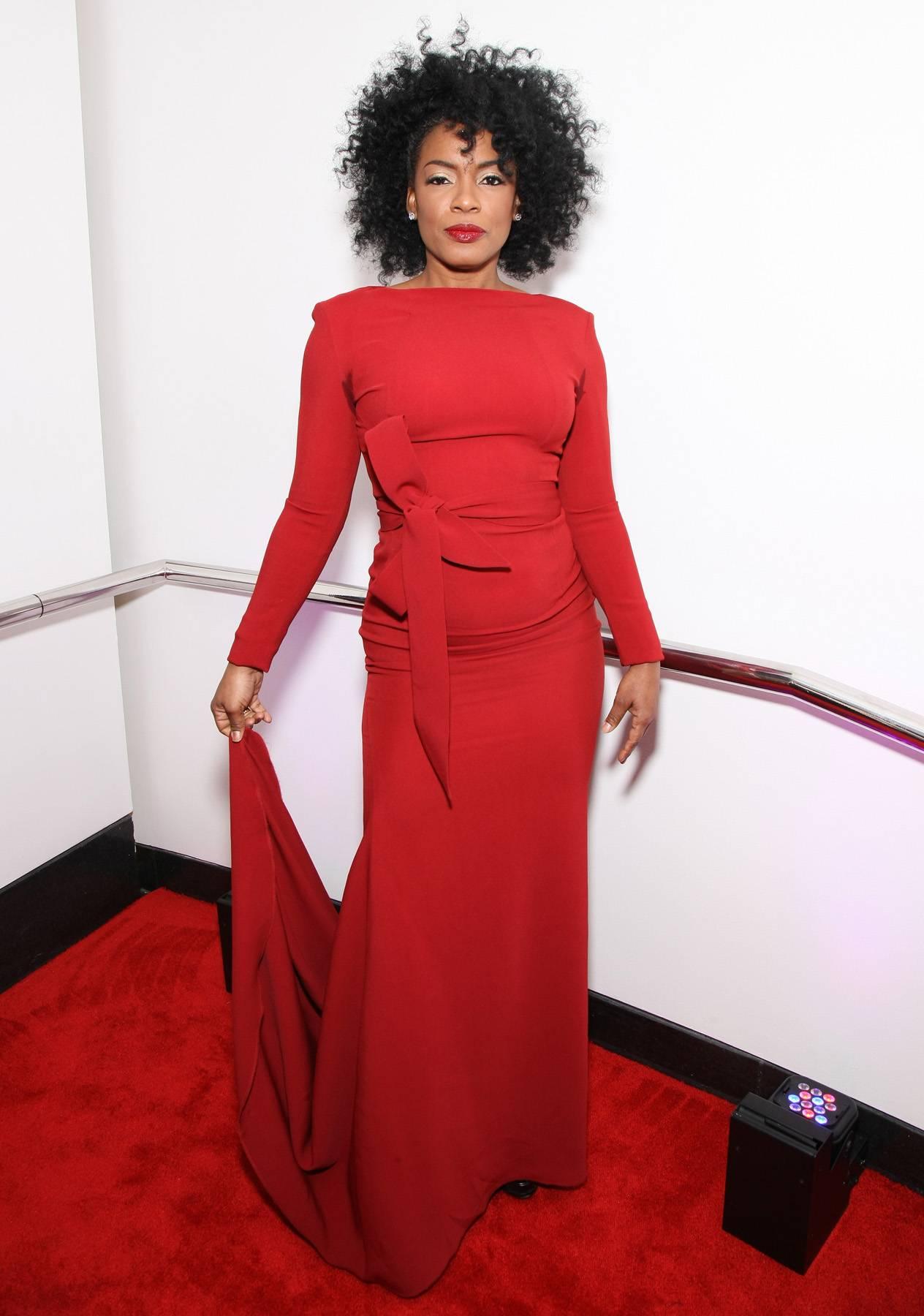Killer Red  - Aunjanue Ellis is a killer in her red dress! (Photo by Bennett Raglin/BET/Getty Images for BET)