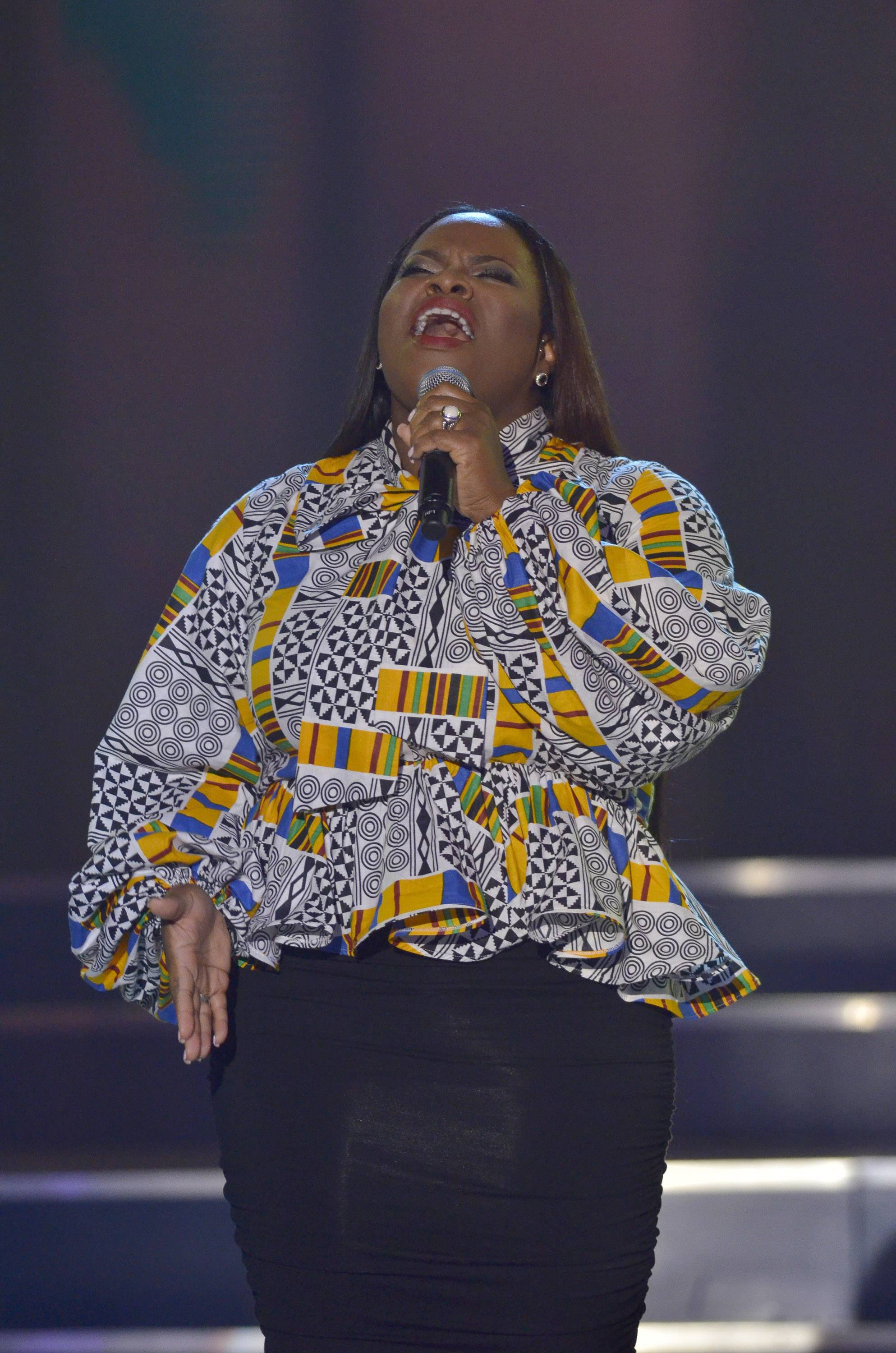 Steal the Show  - All eyes may have been on Tasha Cobbs's excellent performance, but the real focus was the presence of God moving. (Photo: Kris Connor/Getty Images for BET Networks)