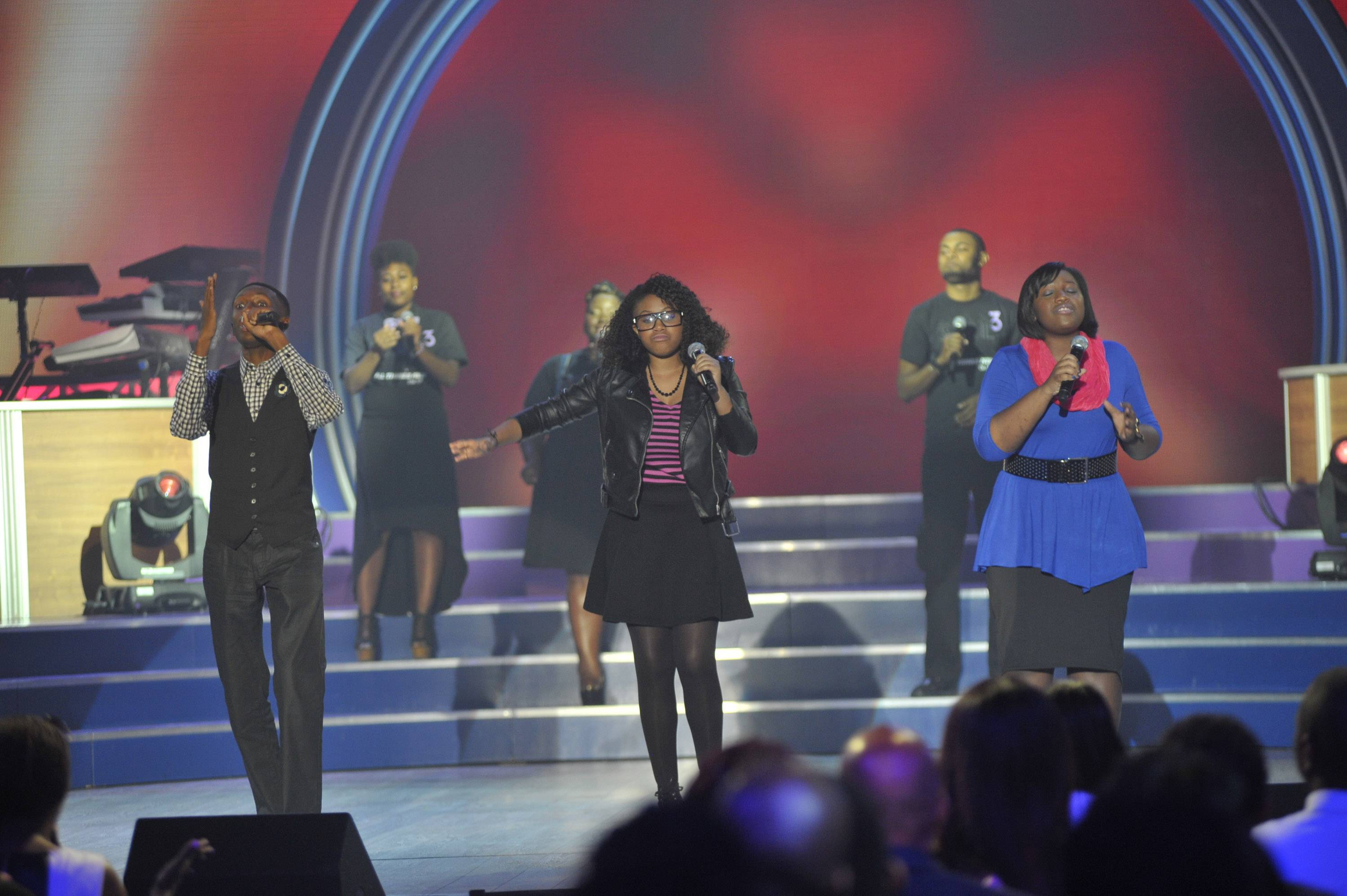 The New Kids on the Block  - STL3 is a teenage gospel group comprised of two sisters and a brother. They come together to help rid people of their negative self image and insecurity by focusing on Jesus being the center of it all. (Photo: Kris Connor/Getty Images for BET Networks)