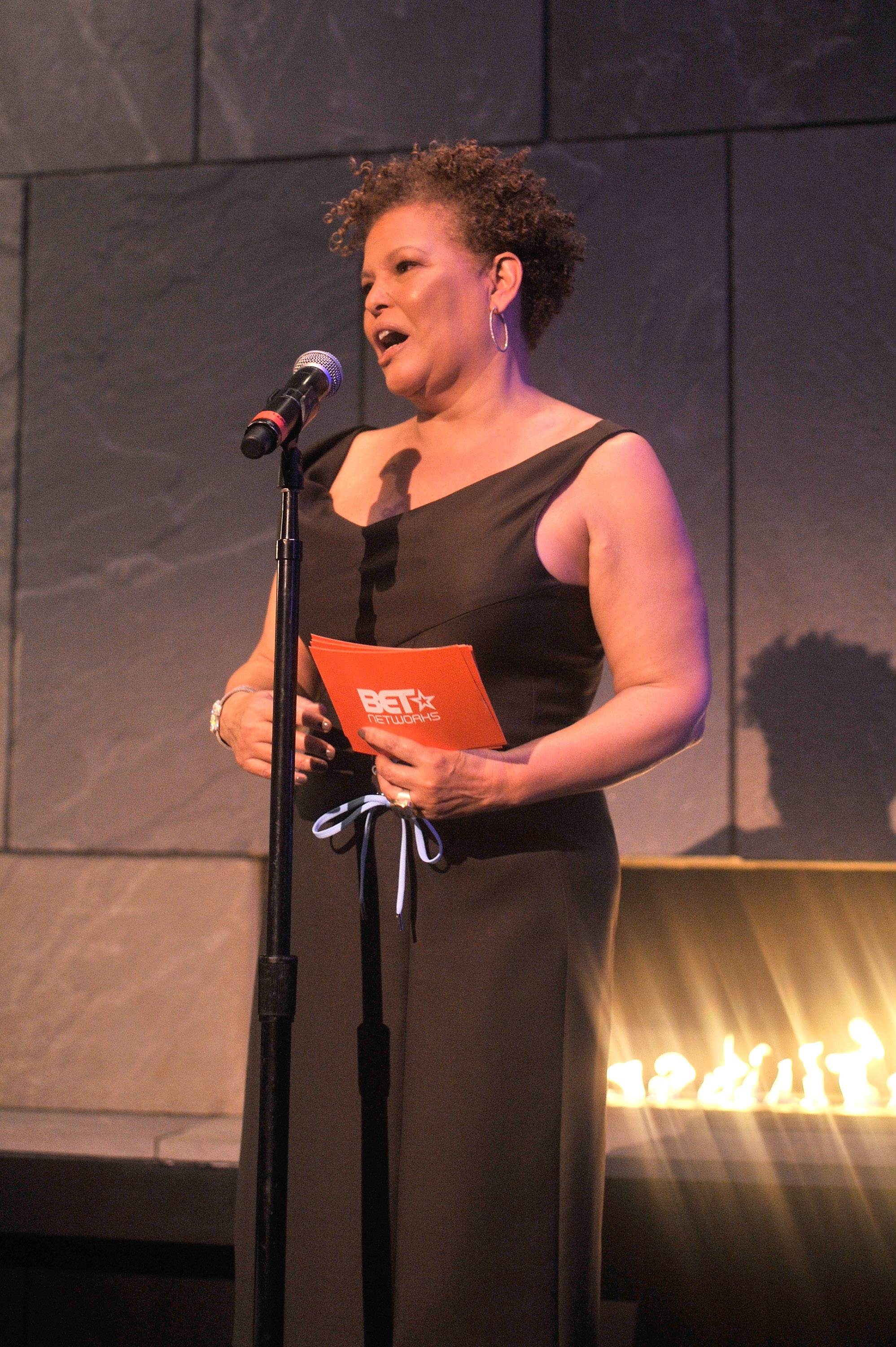 The Hostess - Debra Lee welcomes guests to the dinner.(Photo: Kris Connor/BET/Getty Images for BET)