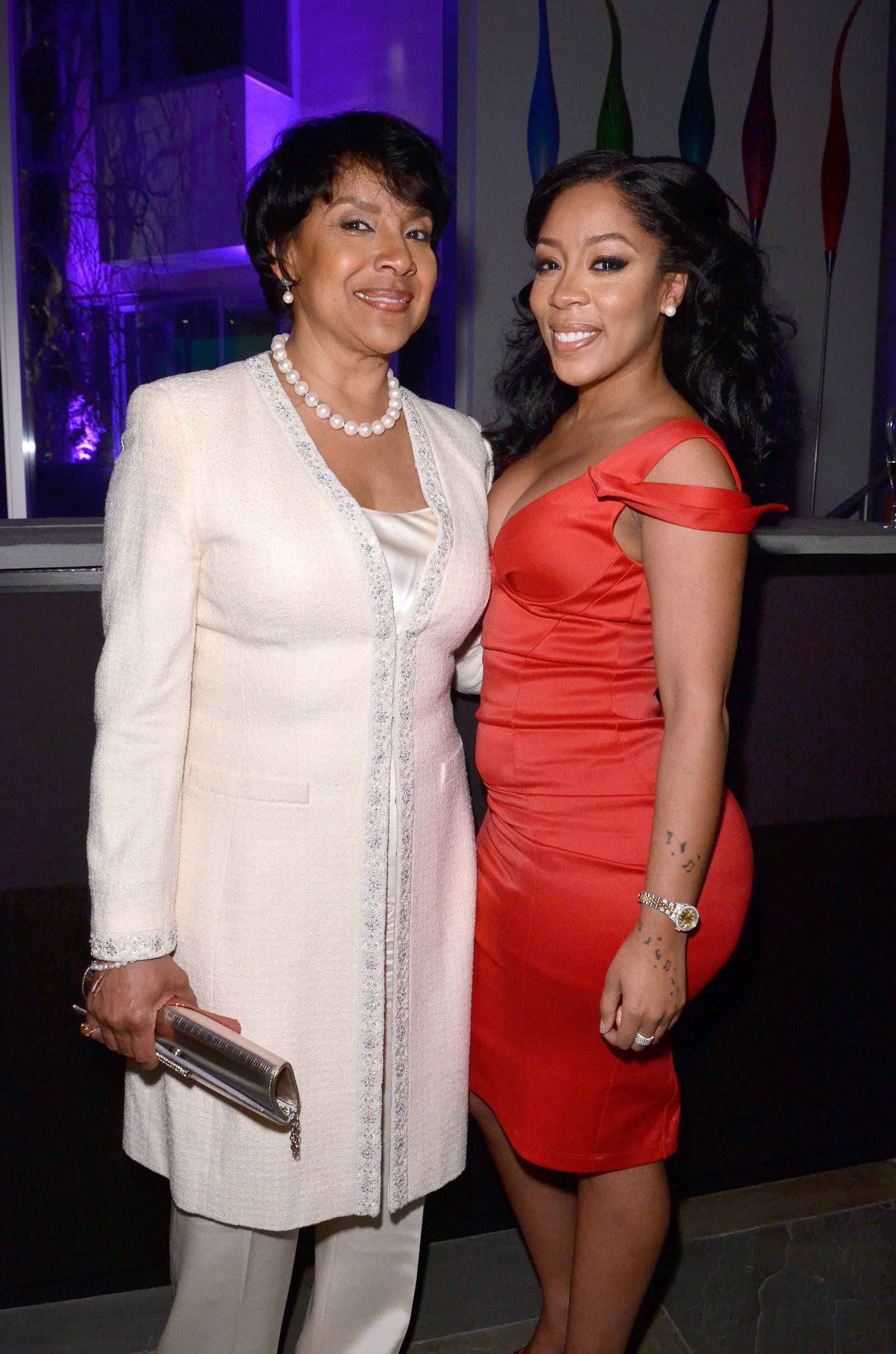More Extraordinary - Theatrical Arts honoree and performer K. Michelle catch up during the the Debra Lee PRE-dinner.(Photo: Kris Connor/BET/Getty Images for BET)