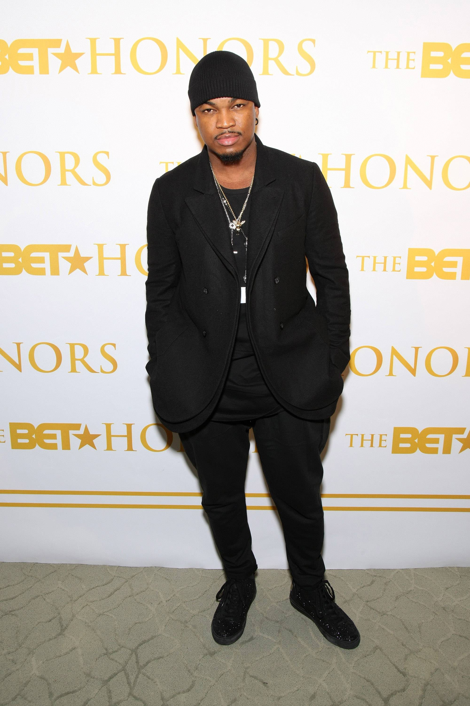 Ne-Yo's for Real - Non-Fiction crooner Ne-Yo strikes a pose on the red carpet. (Photo: Bennett Raglin/BET/Getty Images for BET)