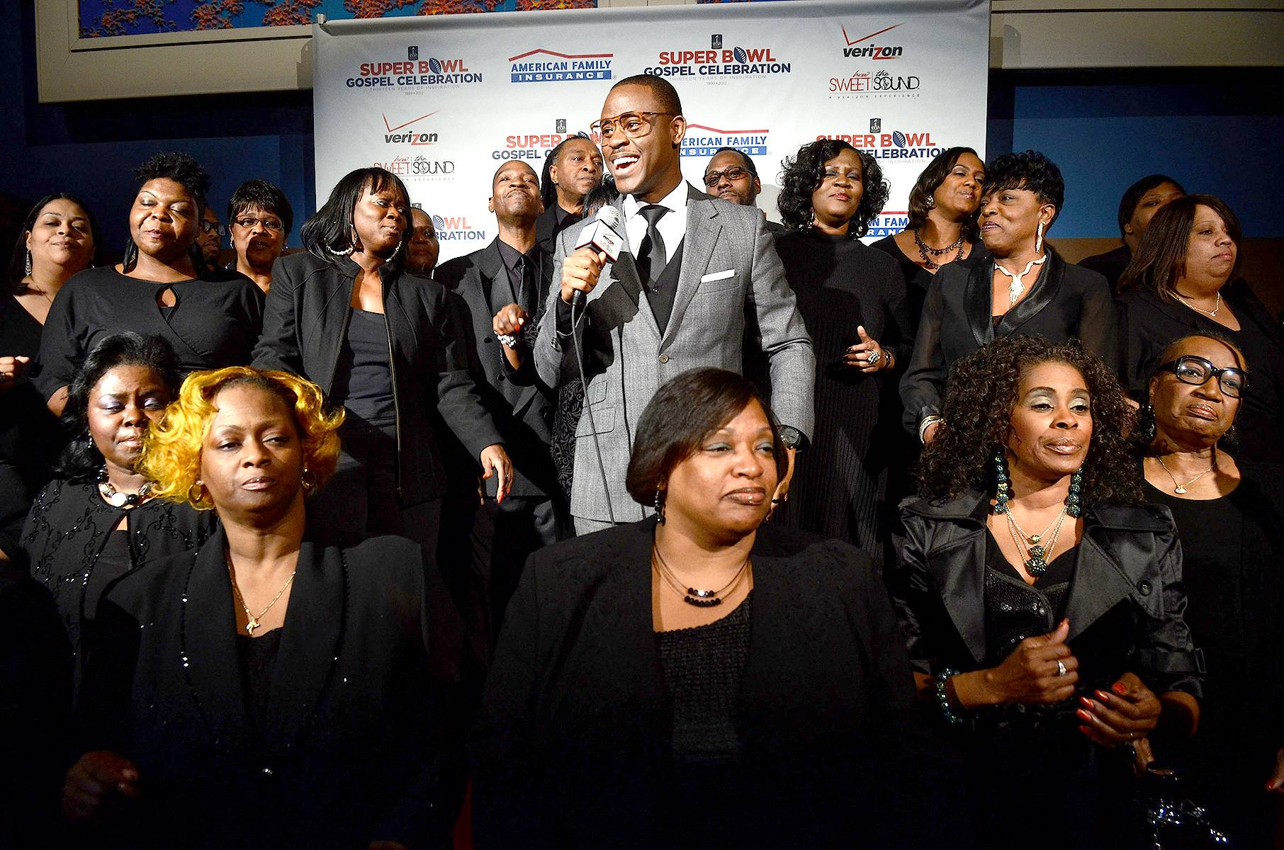 Fellowship - Pastor Charles Jenkins and the Fellowship pose for a picture at Super Bowl Gospel Celebration 2012 at Clowes Memorial Hall of Butler University in Indianapolis. (Photo: Daniel Boczarski/Getty Images for Super Bowl)