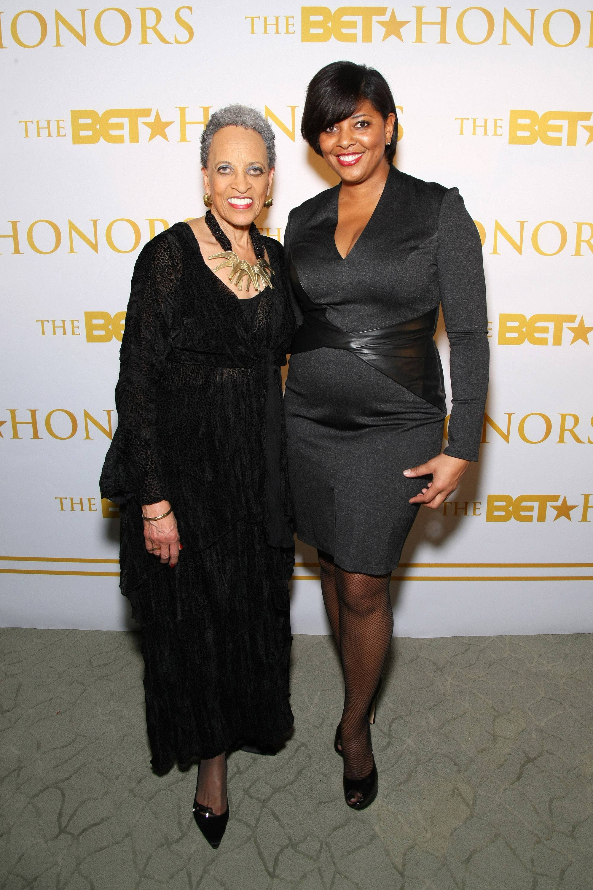 All Black Everything - Honoree Dr. Johnnetta B. Cole and BET executive Vicky Free stun in all black.