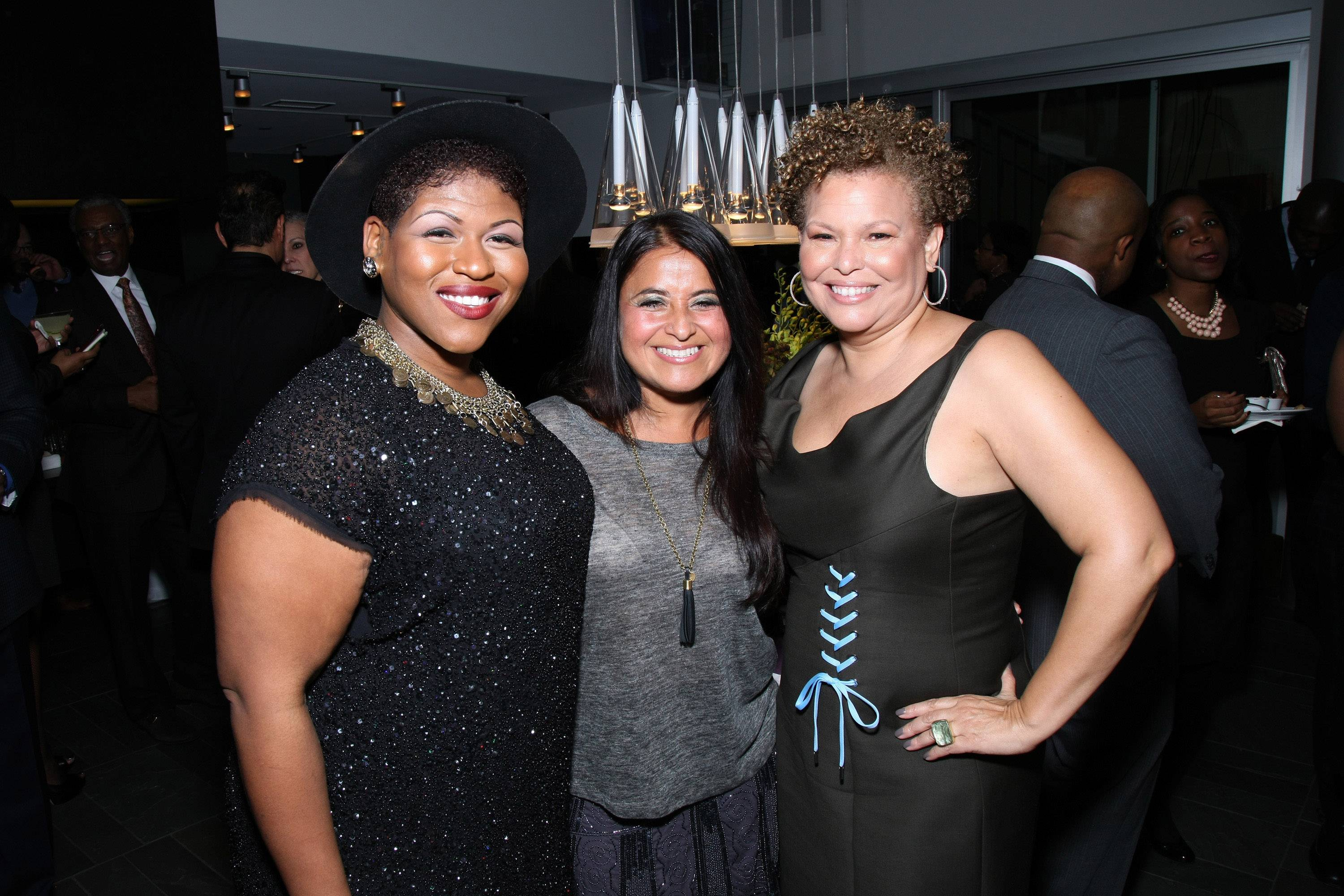 Ladies' Night Out - Stacy Barthe, Wanda Coriano and Debra L. Lee enjoy a ladies' night out.(Photo: Bennett Raglin/BET/Getty Images for BET)