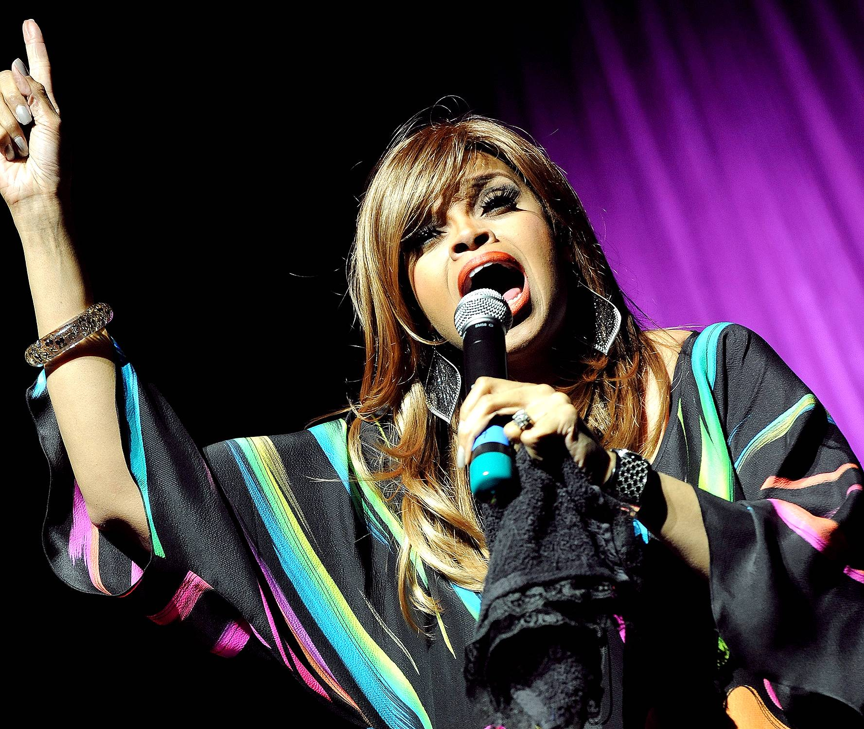 Praise Him Anyhow - Karen Clark-Sheard performs at James L. Knight Center as part of The 11th Annual Super Bowl Gospel Celebration in Miami.(Photo: Rick Diamond/Getty Images for Super Bowl Gospel)