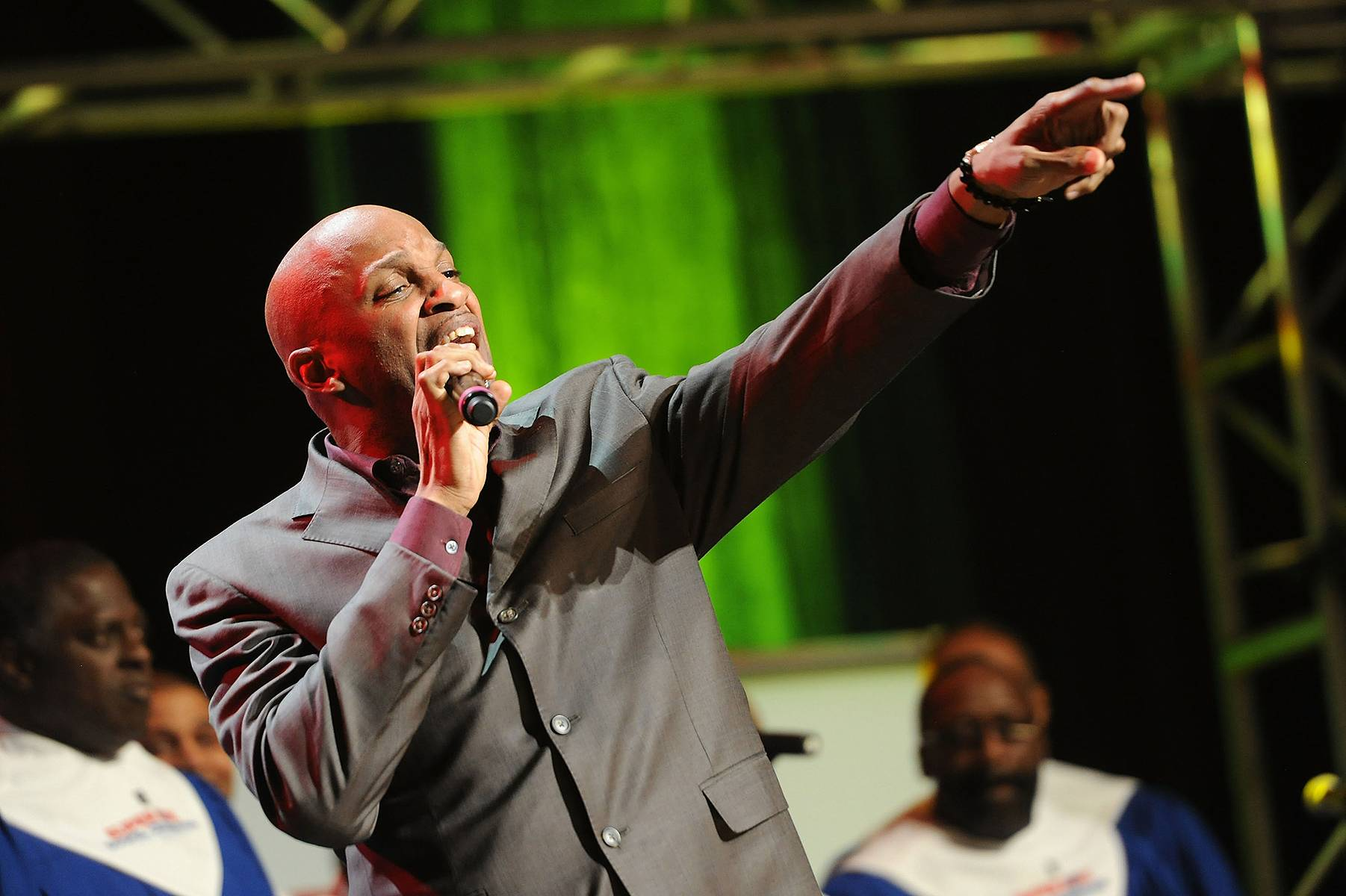 Withholding Nothing - Donnie McClurkin performs at the Super Bowl Gospel Celebration 2012 at Clowes Memorial Hall of Butler University in Indianapolis. (Photo: Rick Diamond/Getty Images for Super Bowl)