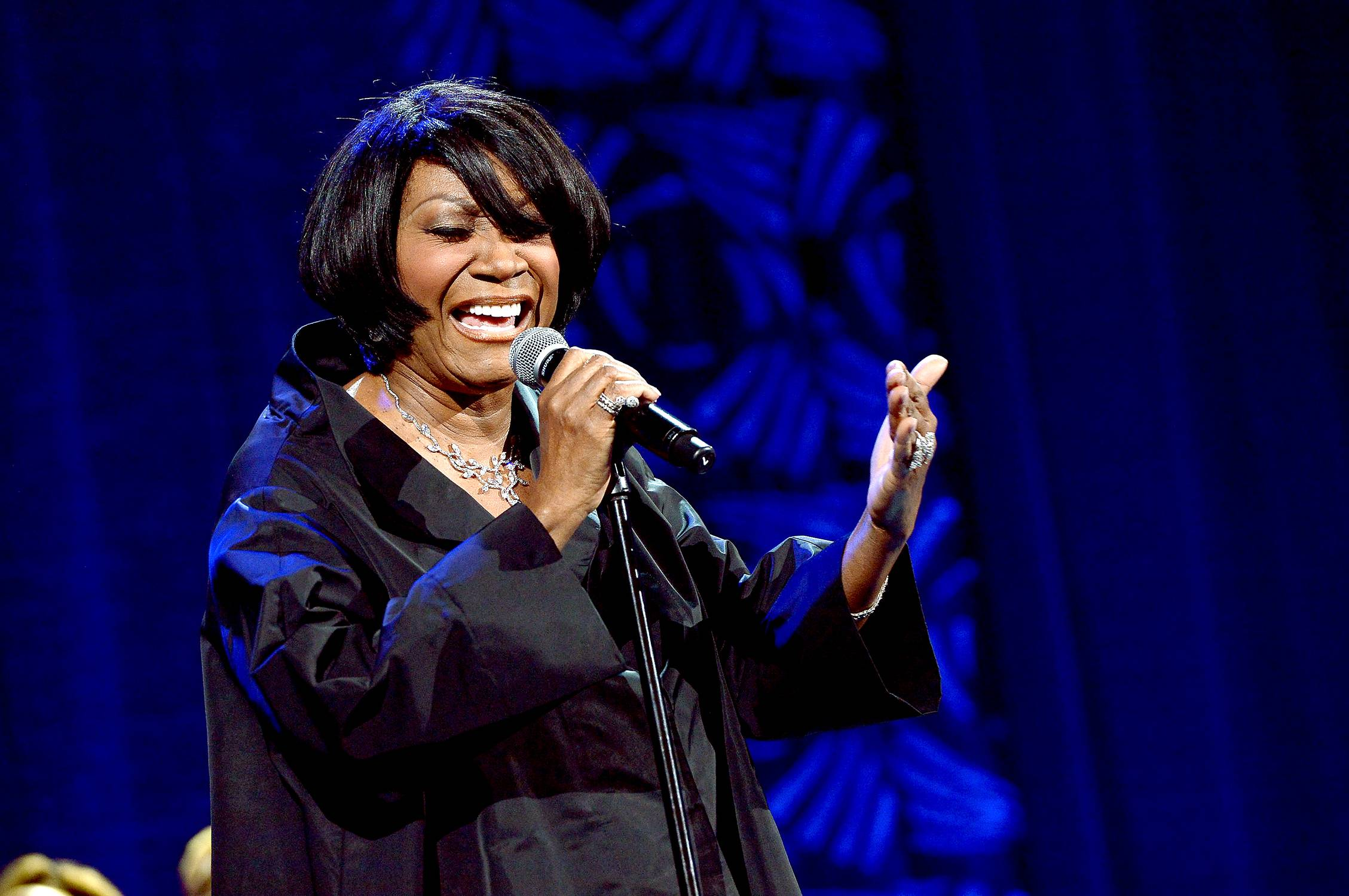 Kick Off Your Shoes  - Singer Patti LaBelle performs onstage at theSuper Bowl Gospel Celebration2014at The Theater at Madison Square Garden in New York City. (Photo: Rick Diamond/Getty Images for Super Bowl)