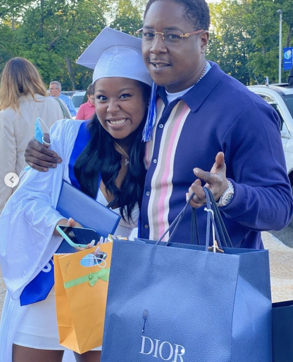 """Jaidyon: Daughter Of Rapper, Jadakiss - Jadakiss's beautiful daughter, Jaidyon is a High school graduate! The proud papa shared photos on Instagram with his babygirl and a heartfelt message to go along with them. """"Can't believe my baby Graduated,I Love You ❤️,"""" read his caption. He showered his daughter with luxe gifts and lots of hugs. Aww, there's no love like a dad and his little girl."""