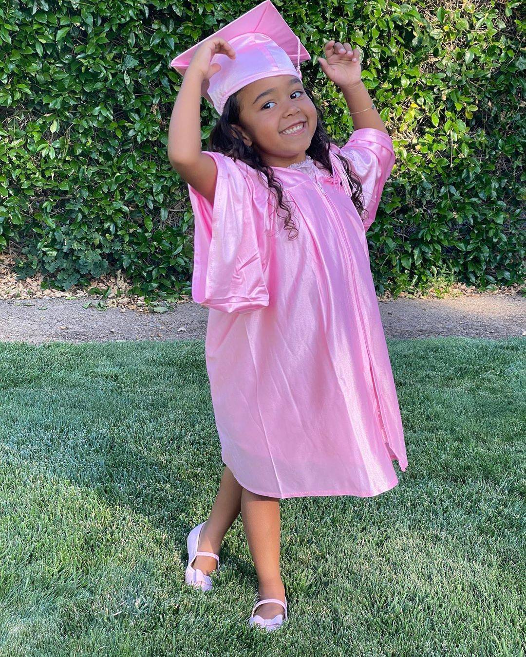 """Tamera Mowry-Housley's Daughter, Ariah - Tamera Mowry-Housley's daughterAriahwas all smiles as she celebrated her Pre-K graduation, surrounded by friends.Although the 4-year-old cutie was unable to physically hug her fellow classmates, due to social distancing practices, the cutie seemed to be in good spirits as she proudly posed for mommy in her pink cap and gown.""""Graduating from Pre-k was something Ariah was so excited about. Obviously because of Covid-19 graduation was cancelled,"""" Tamera captioned the photo. """"However we created a little social distancing ceremony for her and friends. So proud of this little girl.""""Too precious! Congratulations, Ariah! Tamera Mowry-Housley/Instagram"""