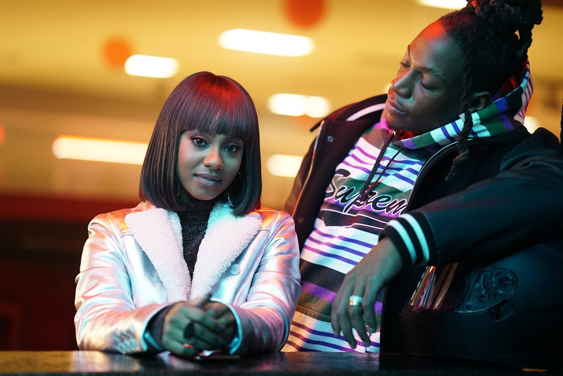 Meet the Cast of Boomerang - The chemistry is obvious between Tetona Jackson's Simone and Joey Bada$'s Camden.(Photogapher:Annette Brown/BET)