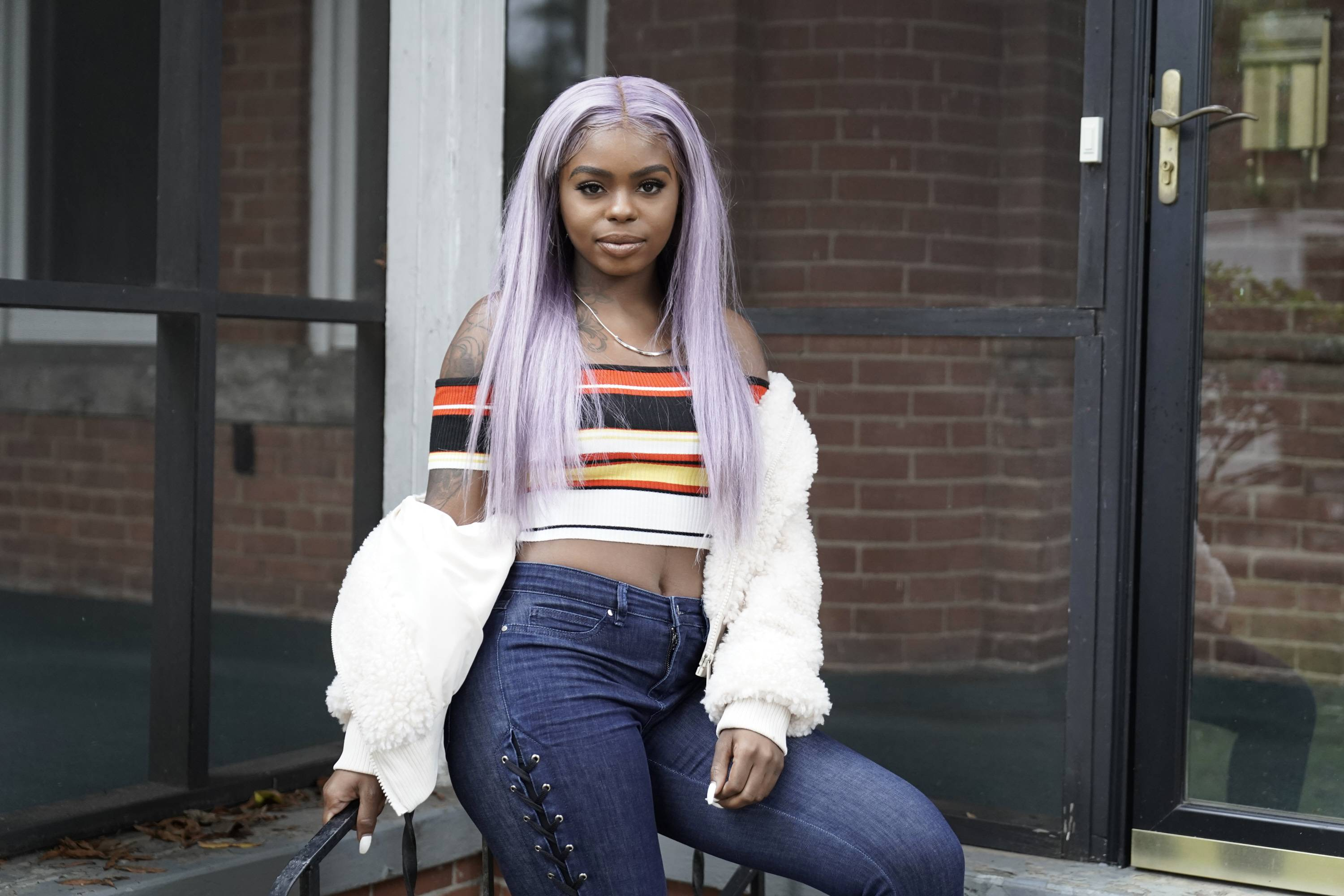 """Meet the Cast of Boomerang - Dreezy is fully in character as Shaunte """"Tay-Tay"""" Hawkins.(Photogapher:Jace Downs/BET)"""