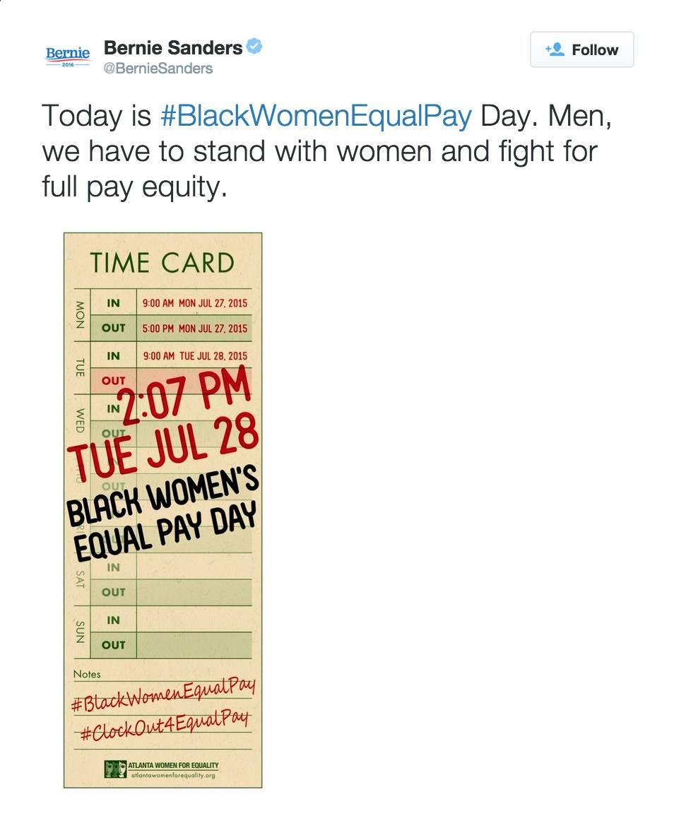 @BernieSanders - (Photo: Atlanta Women For Equality via Bernie Sanders via Twitter)