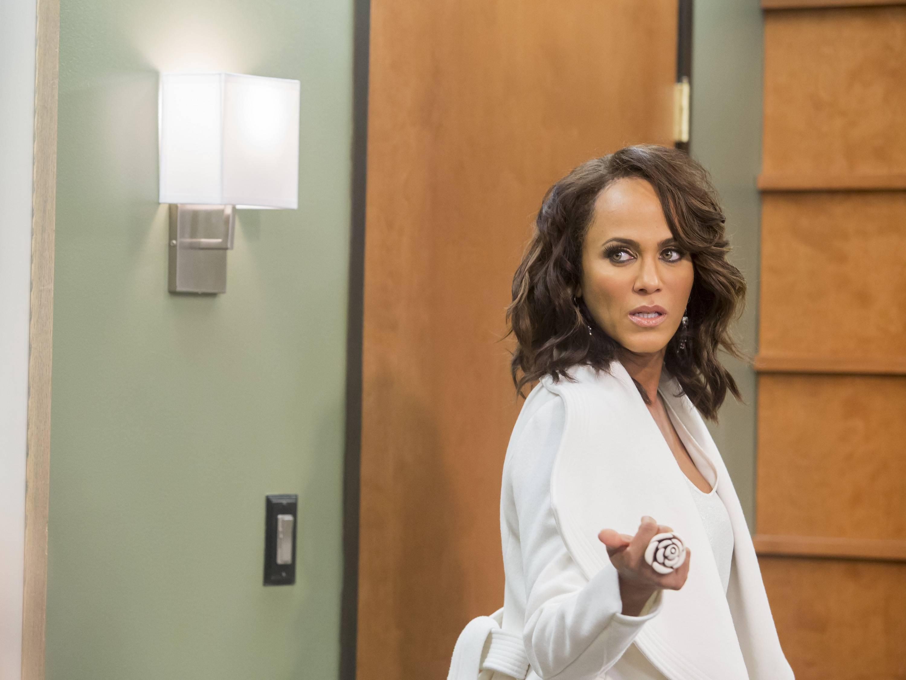 Nicole Ari Parker refuses to be partnered up with anyone ? except for Boris, of course. - Epi412/Wives Episode(Photo: Dale Berman/BET)