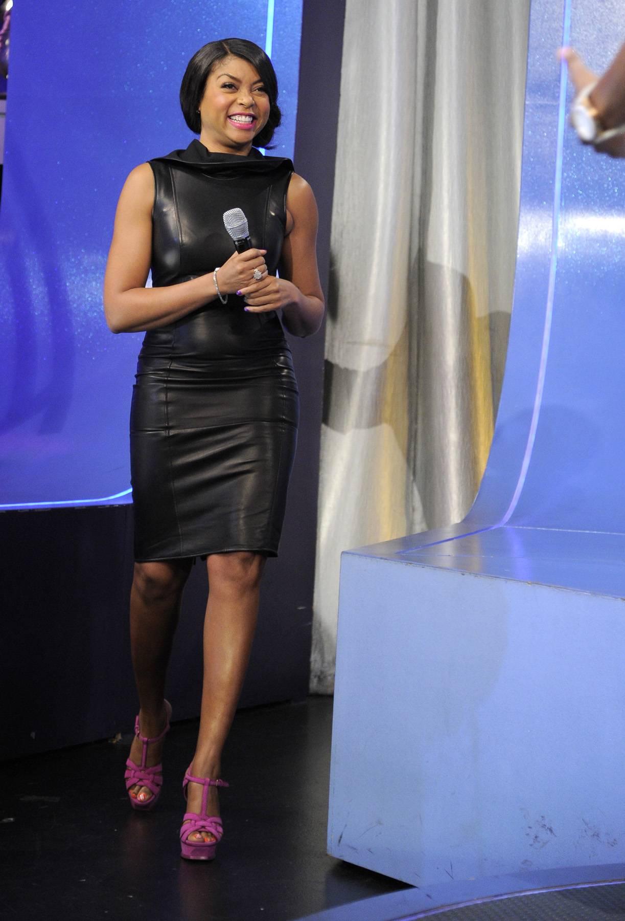 Walk Right Up - Taraji P. Henson takes the stage at 106 & Park, April 17, 2012. (Photo: John Ricard/BET)