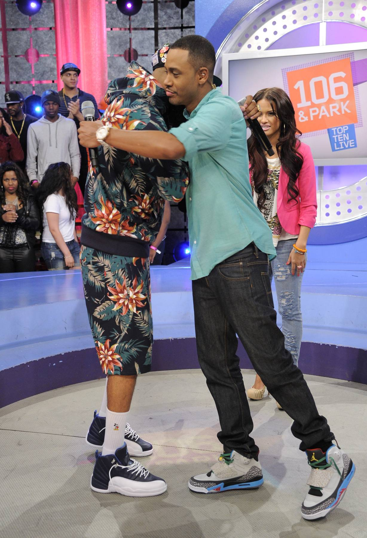 Show Some Love - Stalley of MMG with Rocsi Diaz and Terrence J at 106 & Park, April 17, 2012. (Photo: John Ricard/BET)