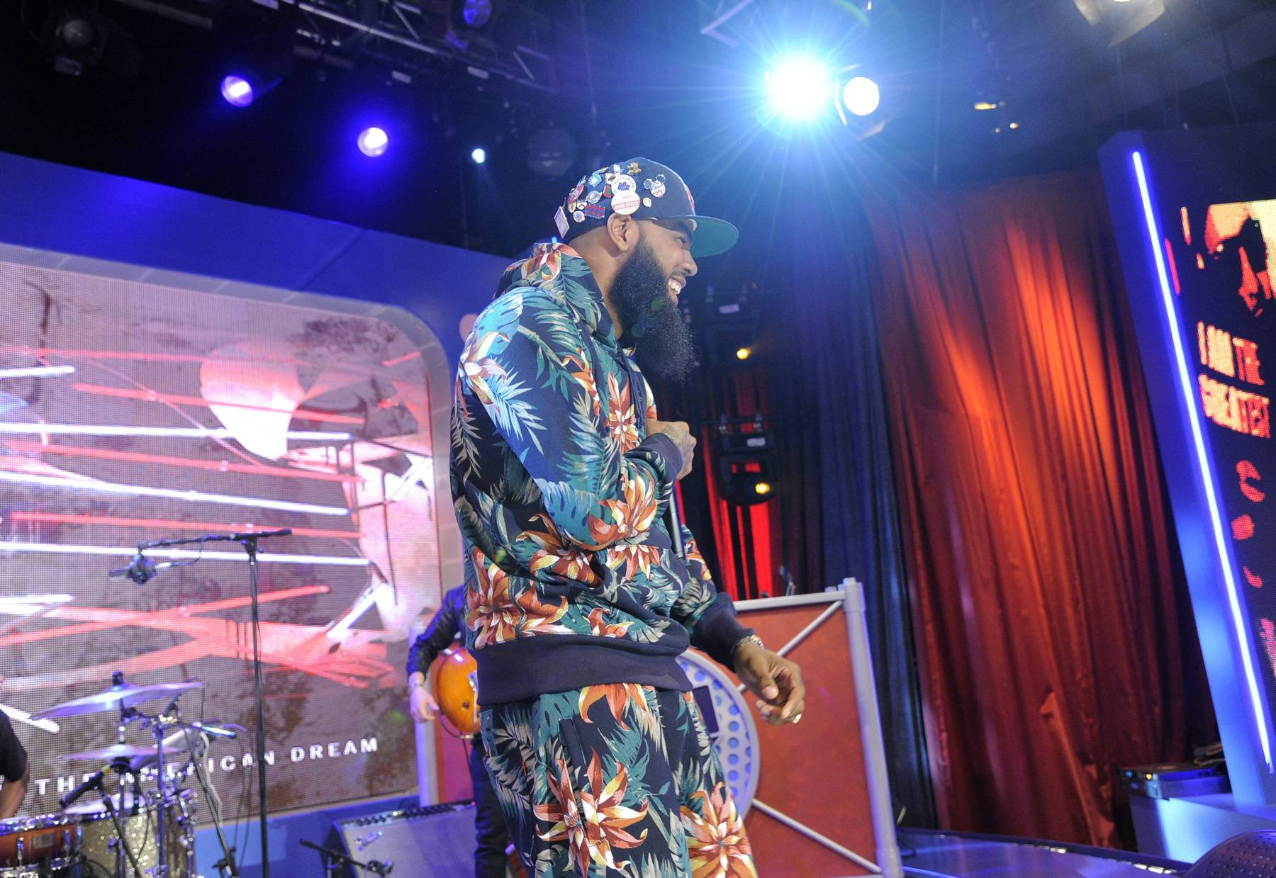 Stars and Bars - The response from the crowd brings a smile to Stalley's face. (photo: John Ricard / BET)