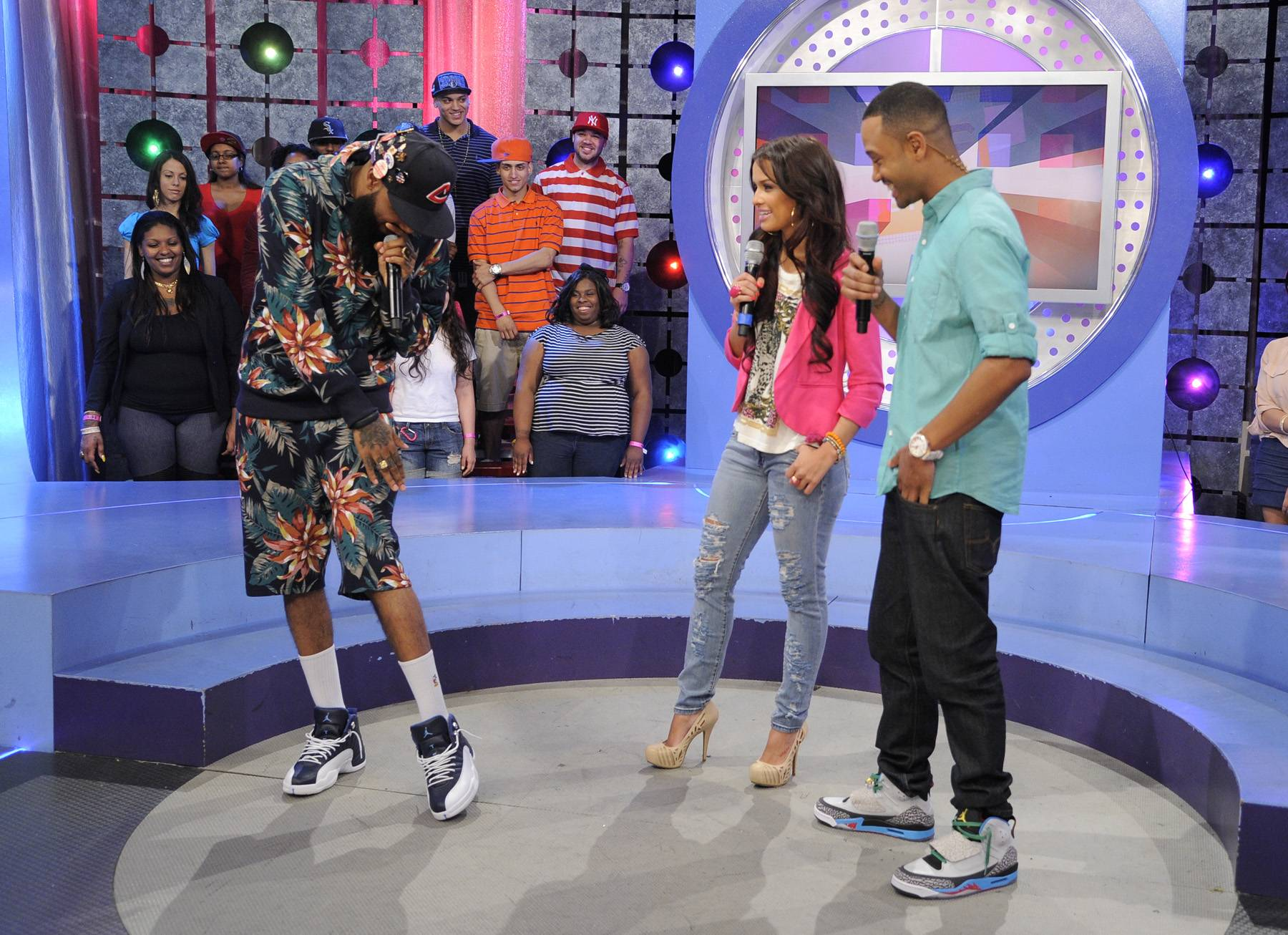 What's That? - Stalley of MMG with Rocsi Diaz and Terrence J at 106 & Park, April 17, 2012. (Photo: John Ricard/BET)