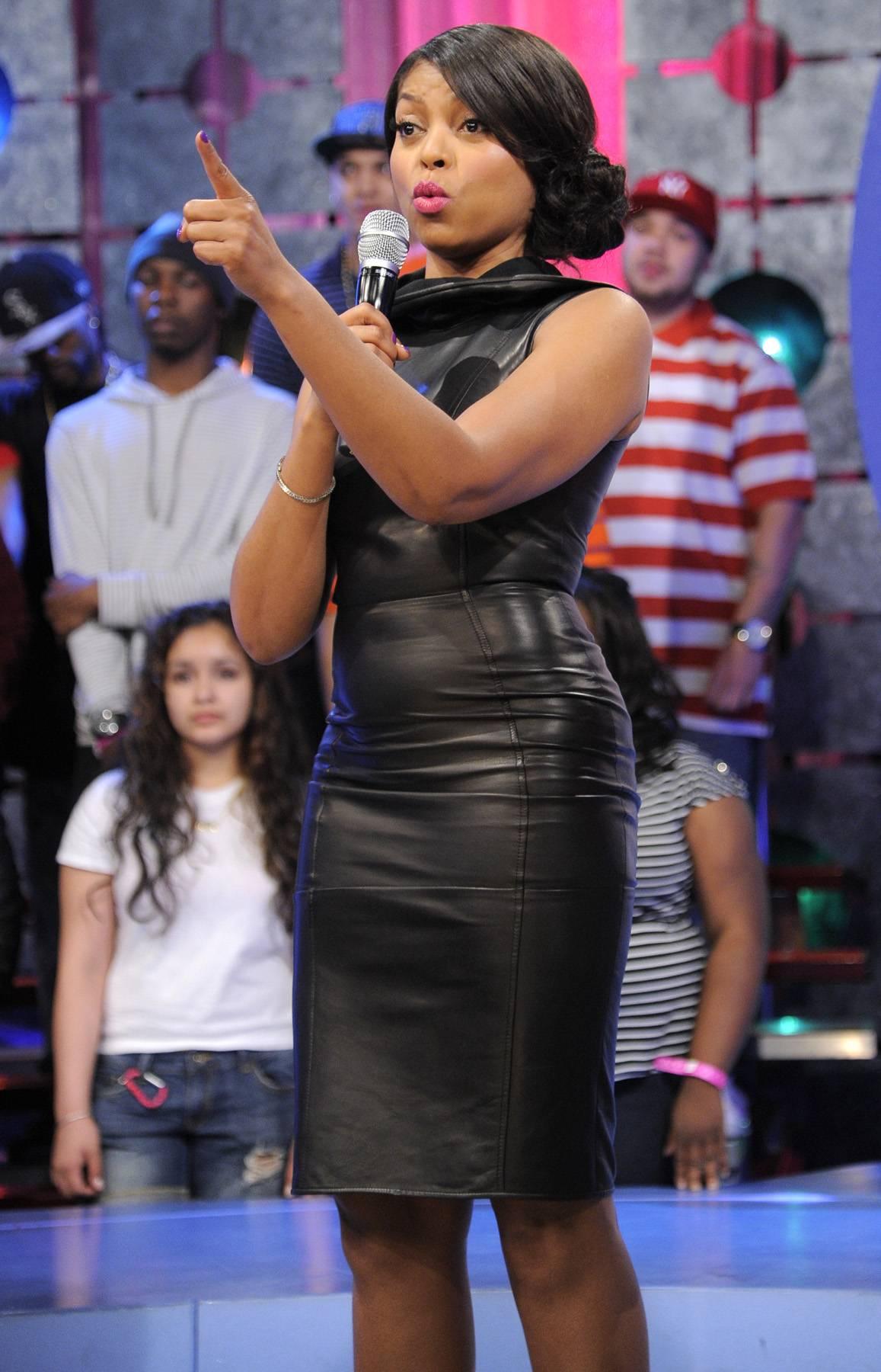 One Love - Taraji P. Henson at 106 & Park, April 17, 2012. (Photo: John Ricard/BET)