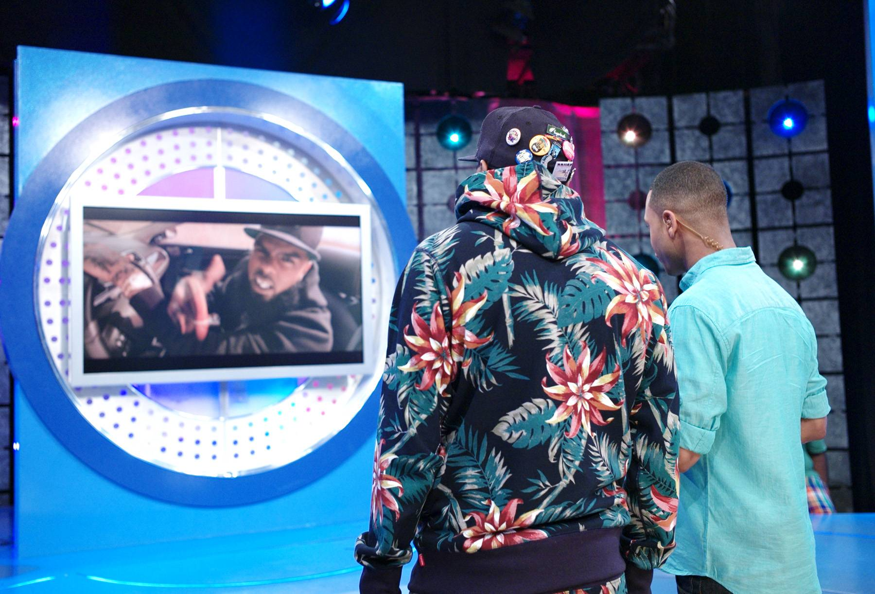 Take a Look - Stalley of MMG with Terrence J at 106 & Park, April 17, 2012. (Photo: John Ricard/BET)