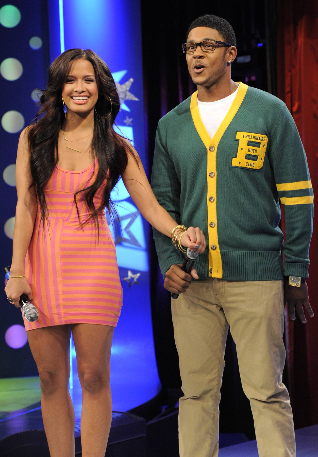 Pooch Is Excited - Pooch Hall and Rocsi Diaz at 106 & Park, April 12, 2012. (Photo: John Ricard / BET)