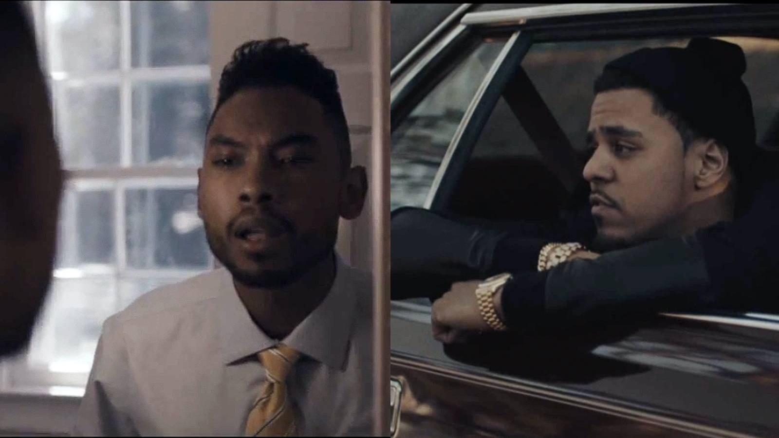 """Best Collaboration: J. Cole feat. Miguel - """"Power Trip"""" - The Roc Nation rapper and the R&B singer prove themselves a powerful match on this hit single off Cole's sophomore album,Born Sinner.(Photos: Roc Nation)"""