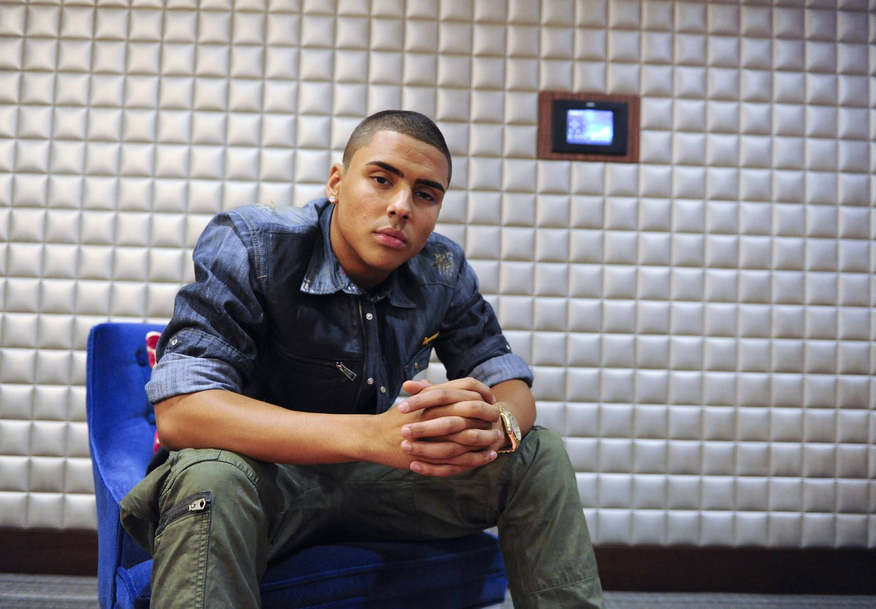 All Grown Up - Quincy Brown in the green room at 106 & Park, May 3, 2012. (Photo: John Ricard / BET)