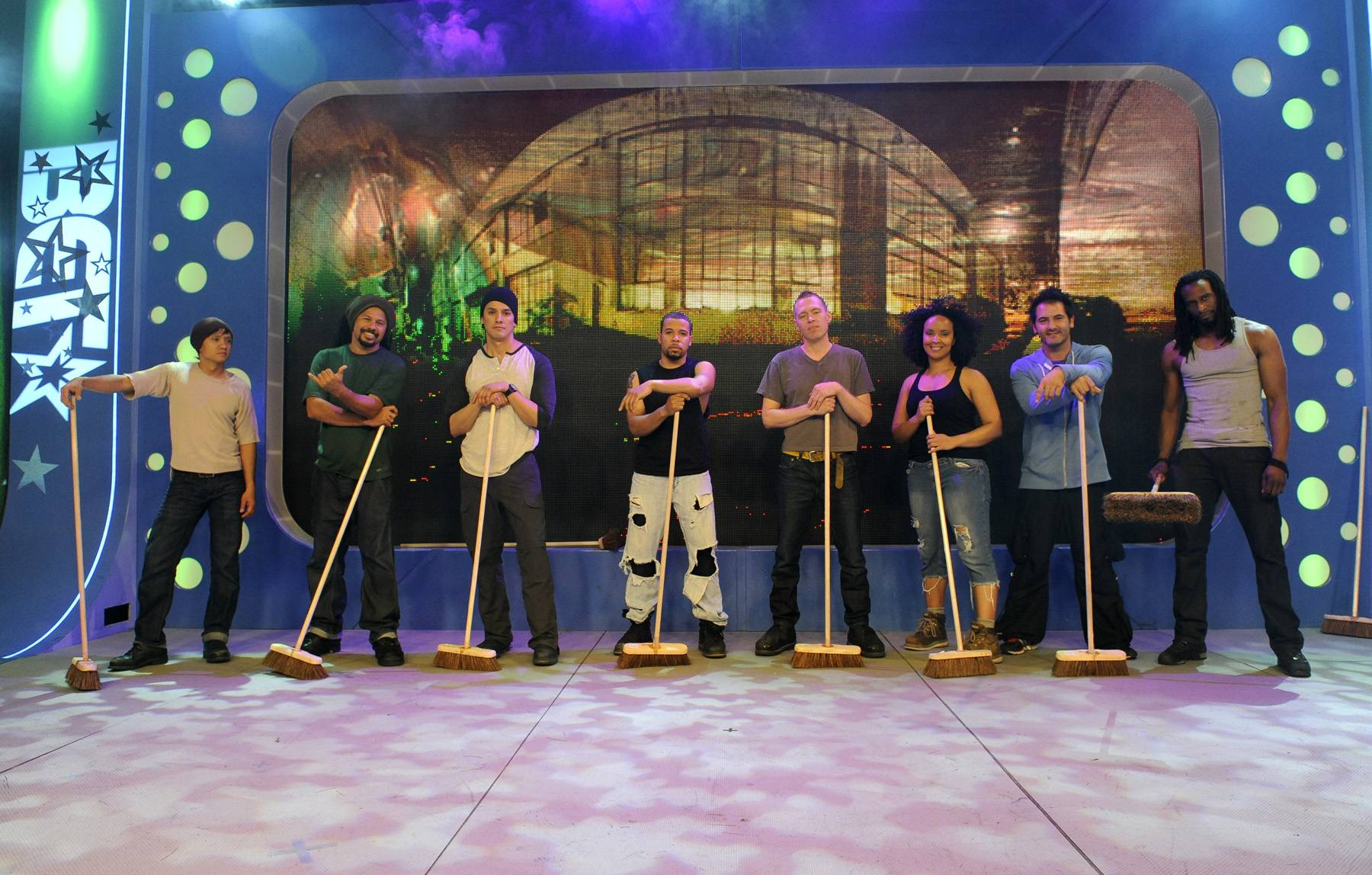 "Stomp - Cast of ""STOMP"" at 106 & Park, May 3, 2012. (Photo: John Ricard / BET)"