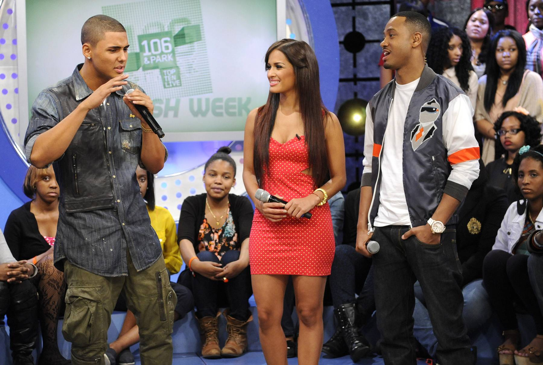 Ready For The World - Quincy with Terrence J and Rocsi Diaz at 106 & Park, May 3, 2012. (Photo: John Ricard / BET)