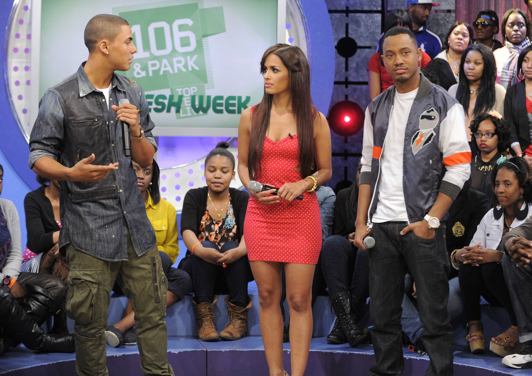 Tell Me Whats Good - Quincy talks about new video on set at106 & Park, May 3, 2012. (Photo: John Ricard / BET)