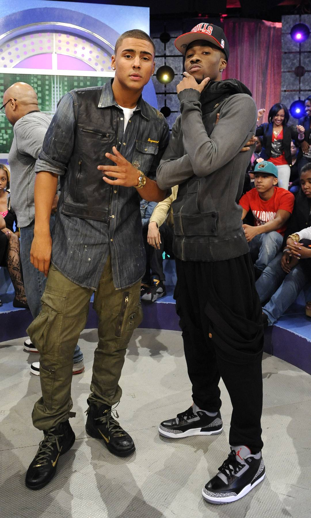 Cool Guy Pose - Kendre and Quincy at 106 & Park, May 3, 2012. (Photo by: John Ricard / BET)