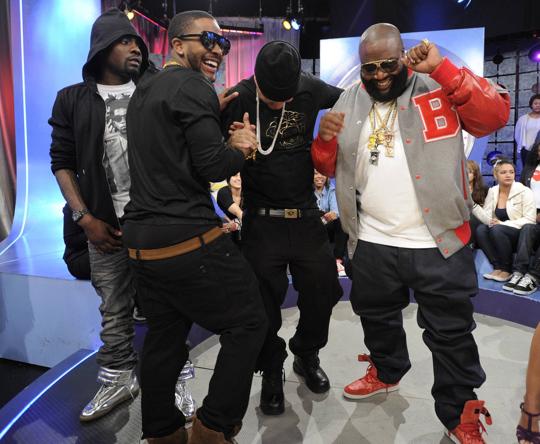 Crew Love - In May 2012, Omarion signed to Rick Ross' Maybach Music Group and joined the ranks of Wale, Meek Mill, Gunplay, Teedra Moses and, of course, Ricky Rozay himself. He appeared on the label's compilation Self Made Vol. 2 and soon announced that he had also signed with Jay-Z's Roc Nation management company. The talented star is set to release a new LP in 2013. (Photo: Jon Ricard/BET)