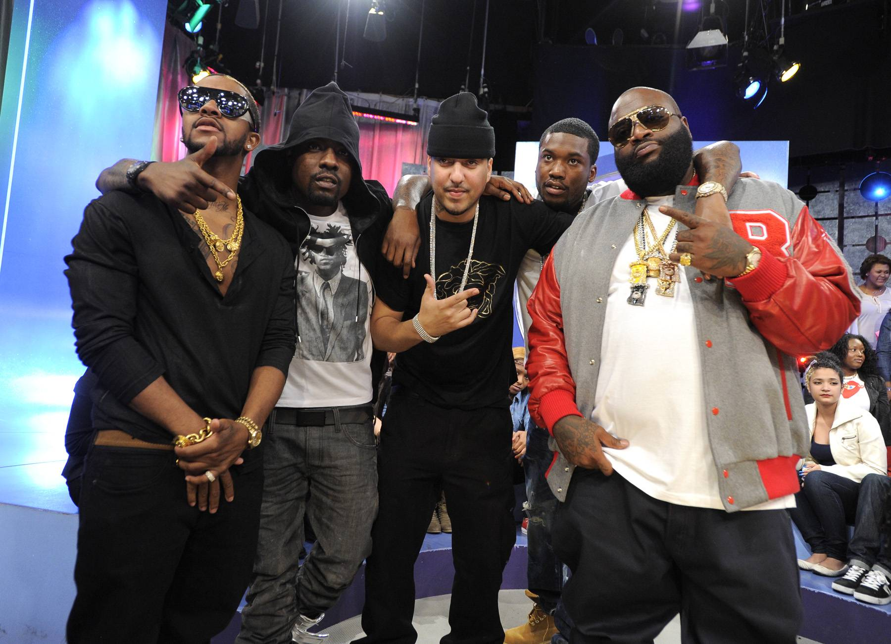 Maybach Music Group - With a lineup that includes Rick Ross, Wale, Meek Mill, Omarion and others, label/crew Maybach Music Group is throwing their weight around in the Best Group category. (Photo: John Ricard/BET)