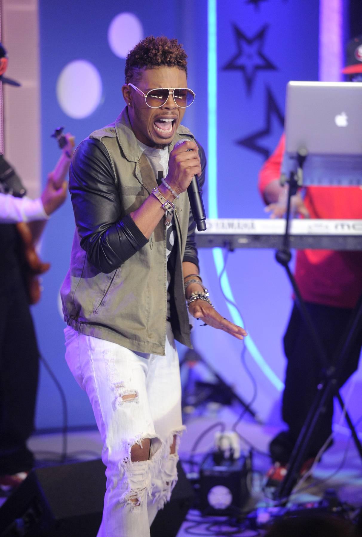Sing Loud - Eric Mayo at 106 & Park, May 2, 2012.(Photo: John Ricard/BET)