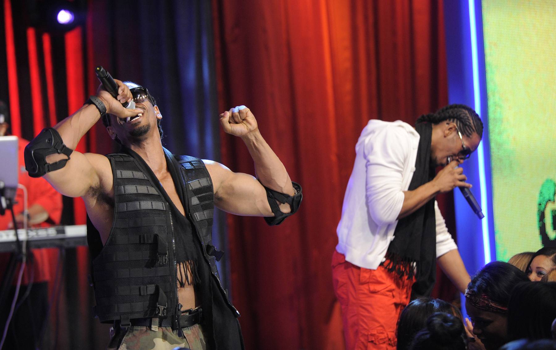 Timez 2 Leaves It on the Stage - Wild Out Wednesday competitors Timez 2 at 106 & Park, May 2, 2012.(Photo: John Ricard/BET)