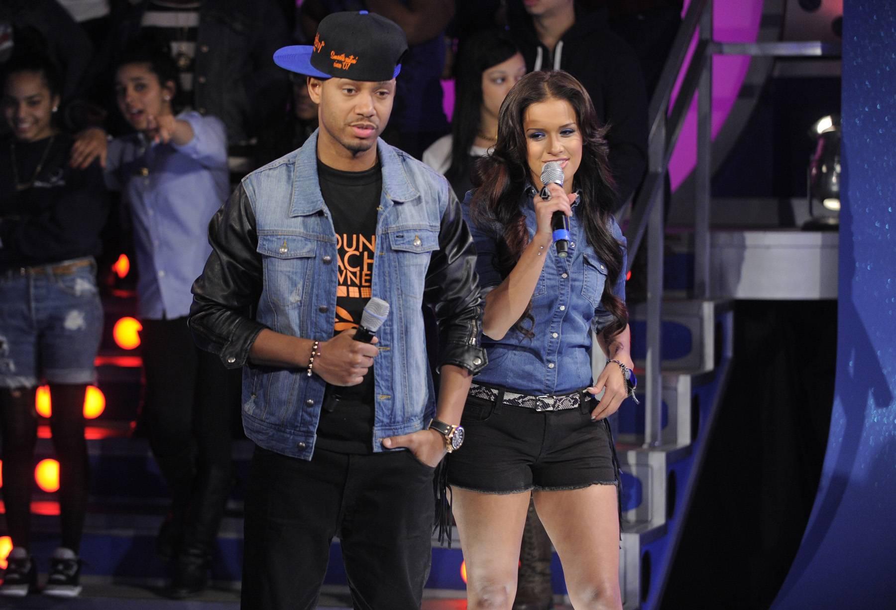 Hey You - Terrence J and Rocsi Diaz at 106 & Park, May 2, 2012. (Photo: John Ricard/BET)