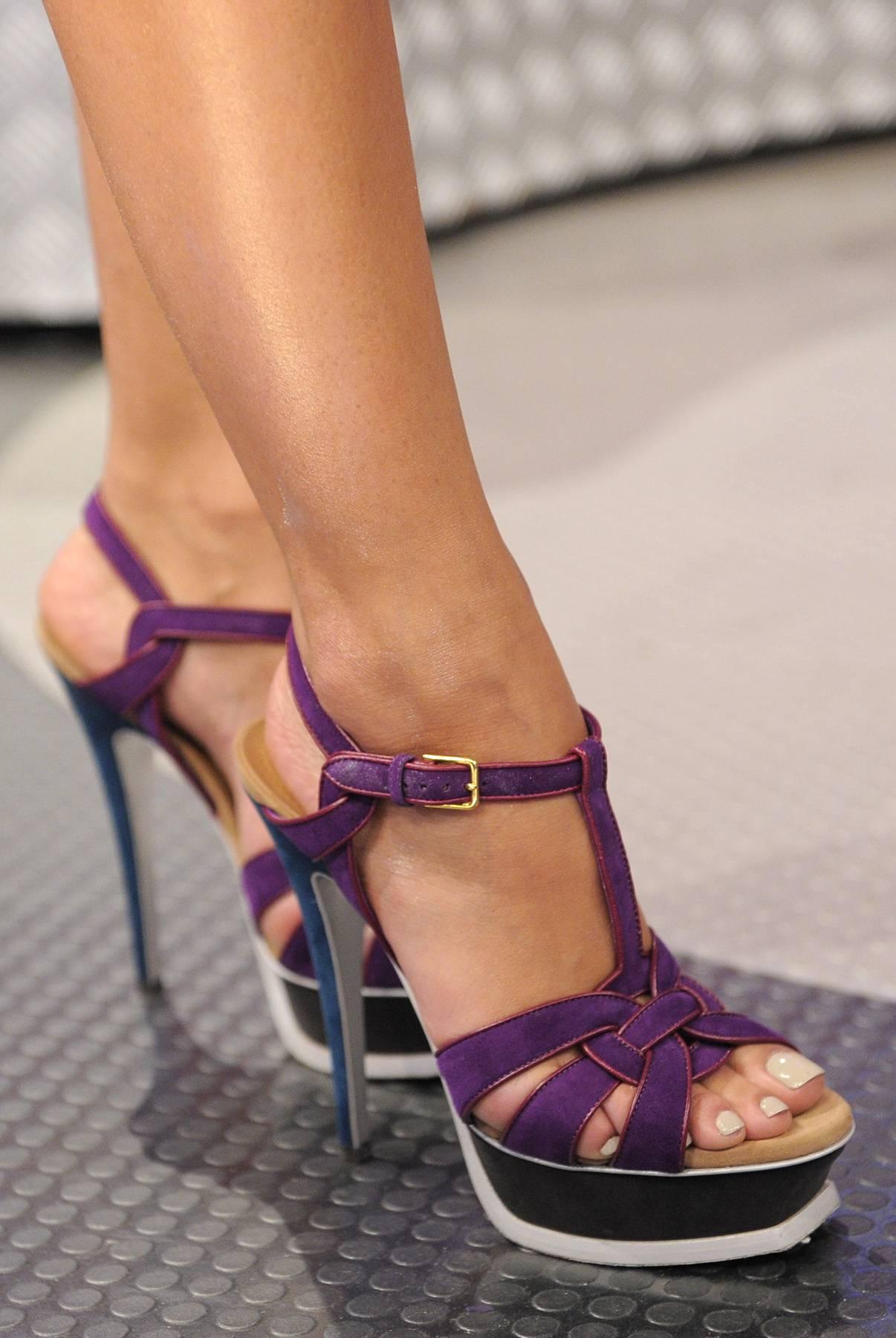 Purple Stilts - Rocsi Diaz at 106 & Park, May 2, 2012. (Photo: John Ricard/BET)