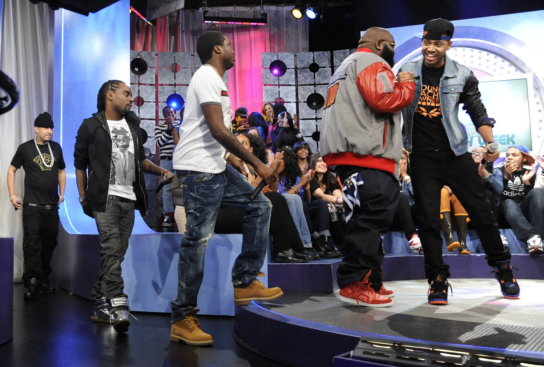 Step Right Up - MMG takes the stage at 106 & Park, May 2, 2012. (Photo: John Ricard/BET)