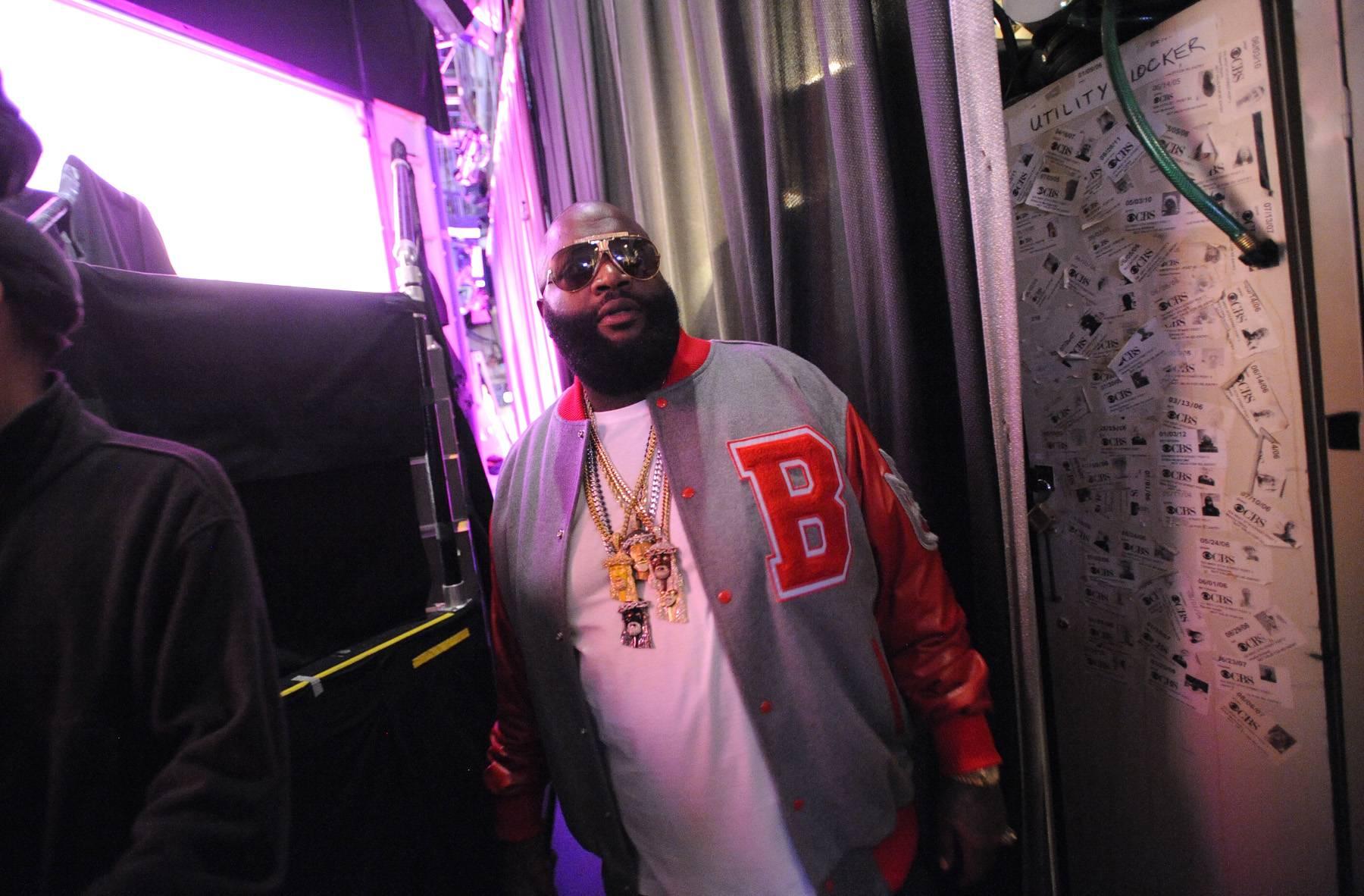 The Boss - Rick Ross backstage at 106 & Park, May 2, 2012. (Photo: John Ricard/BET)