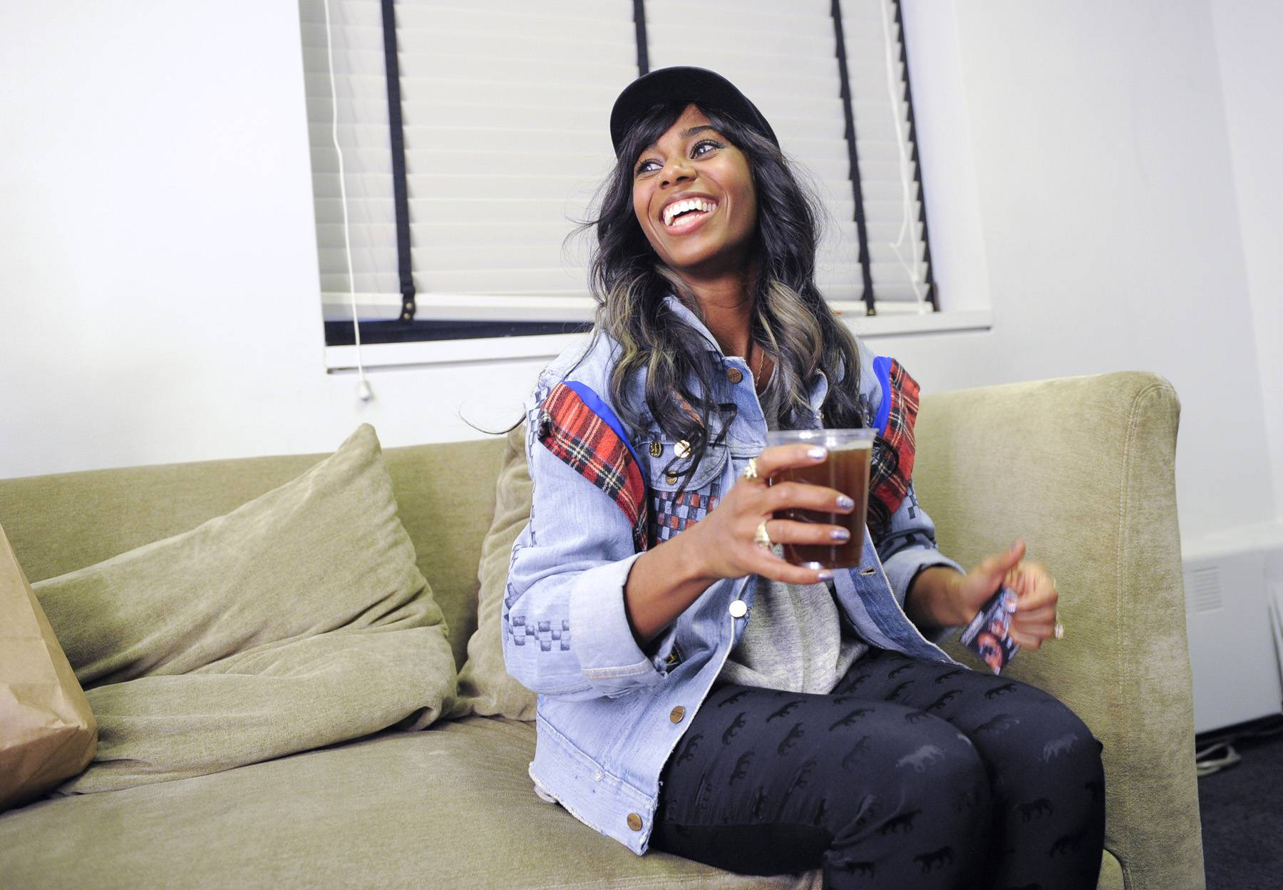 Glad to Be Here - Santigold in the green room at 106 & Park, May 2, 2012. (Photo: John Ricard/BET)