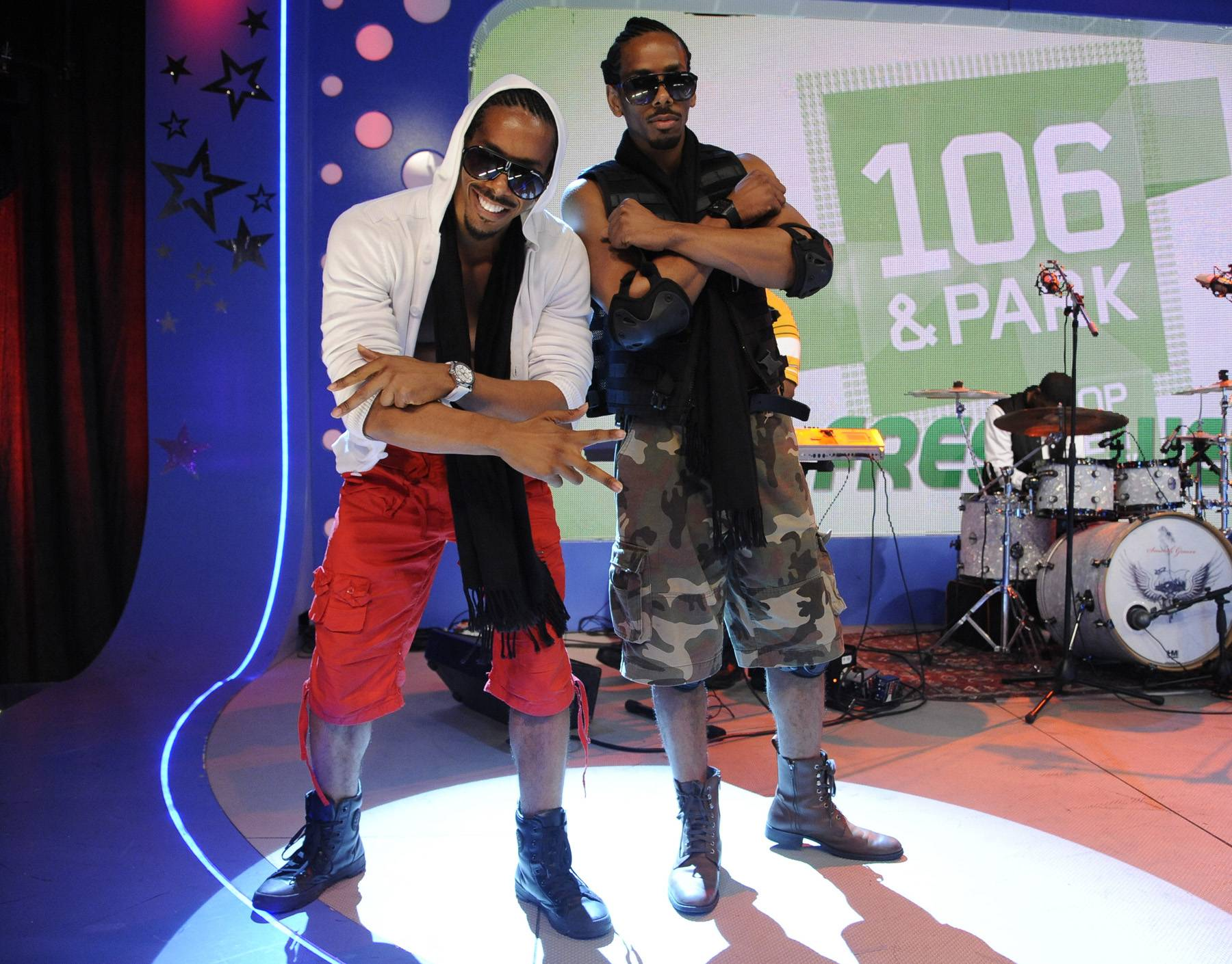 Twin Power - Wild Out Wednesday competitors Timez 2 at 106 & Park, May 2, 2012. (Photo: John Ricard/BET)
