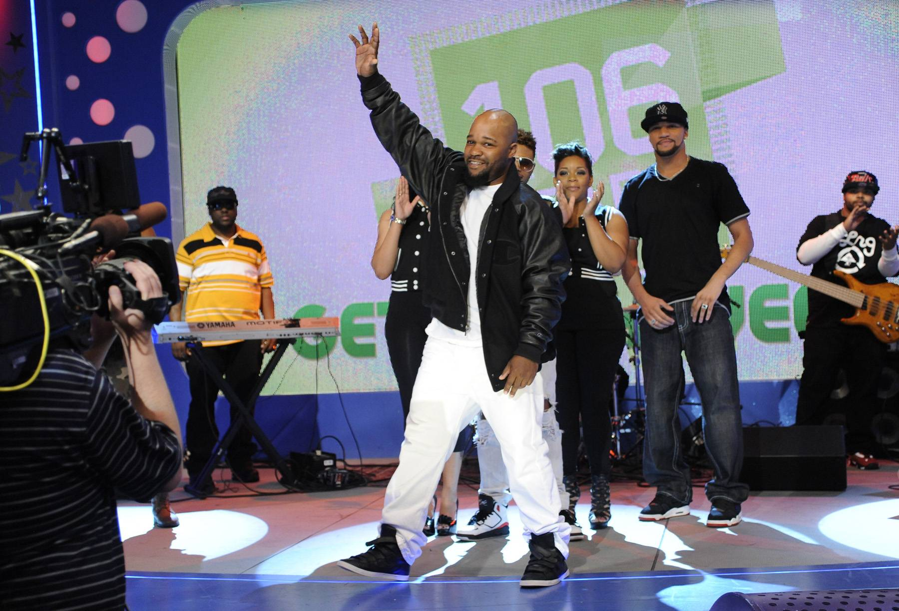 Jus K Takes It All! - Wild Out Wednesday winner Jus K celebrates his victory on the 106 stage!(Photo: John Ricard/BET)