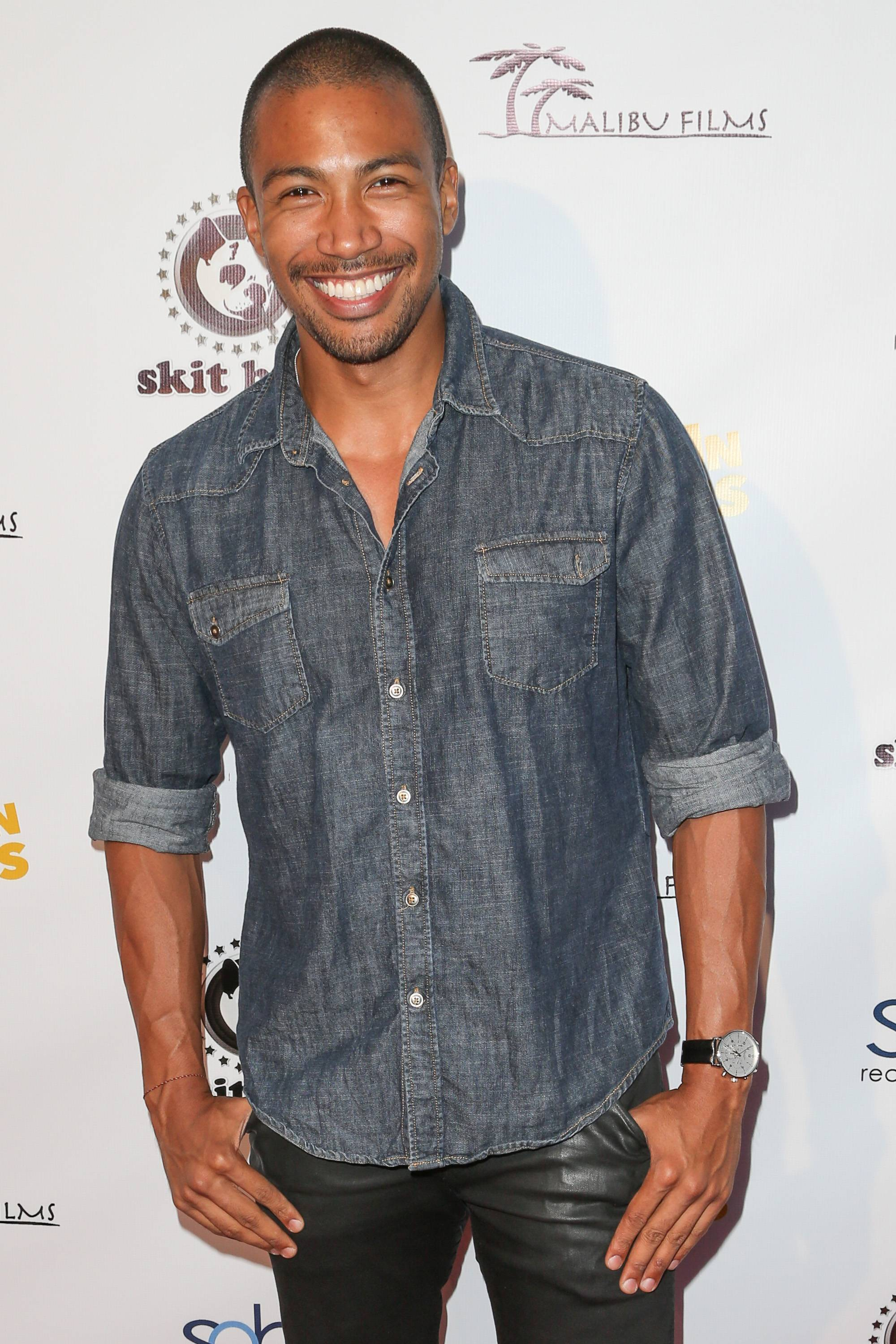 Charles Michael Davis - The lovable actor is attractive. We're sure Sanaa can get into it.(Photo: Chelsea Lauren/Getty Images)