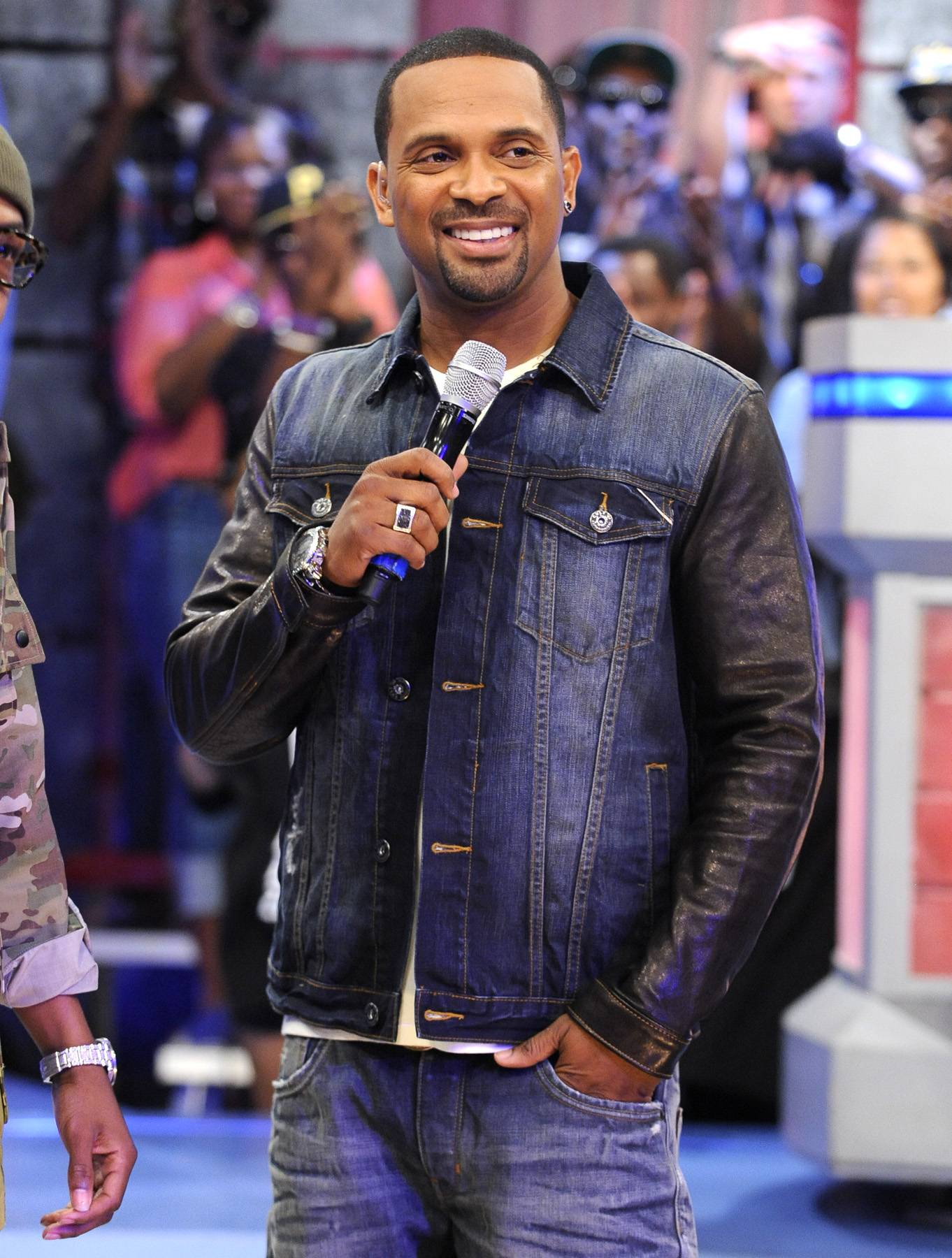 Wait A Minute - Mike Epps at the BET Hip Hop Awards Nominations announcements at 106 & Park, September 12, 2012. (Photo: John Ricard / BET)