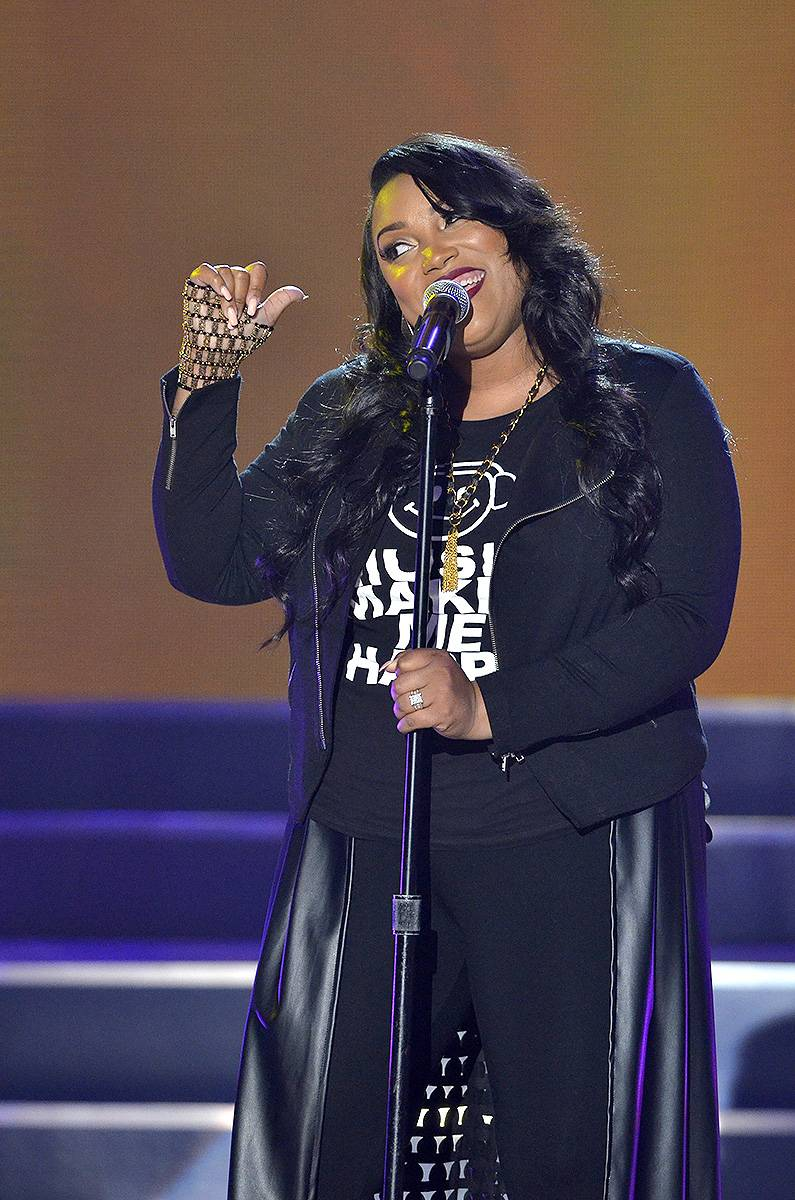 """Tasha Page-Lockhart - The Sunday Best 6 winner just released her debut CD Here Right Now and she'll be here to tell us why she's """"Different."""" (Photo: Kris Connor/Getty Images for BET Networks)"""