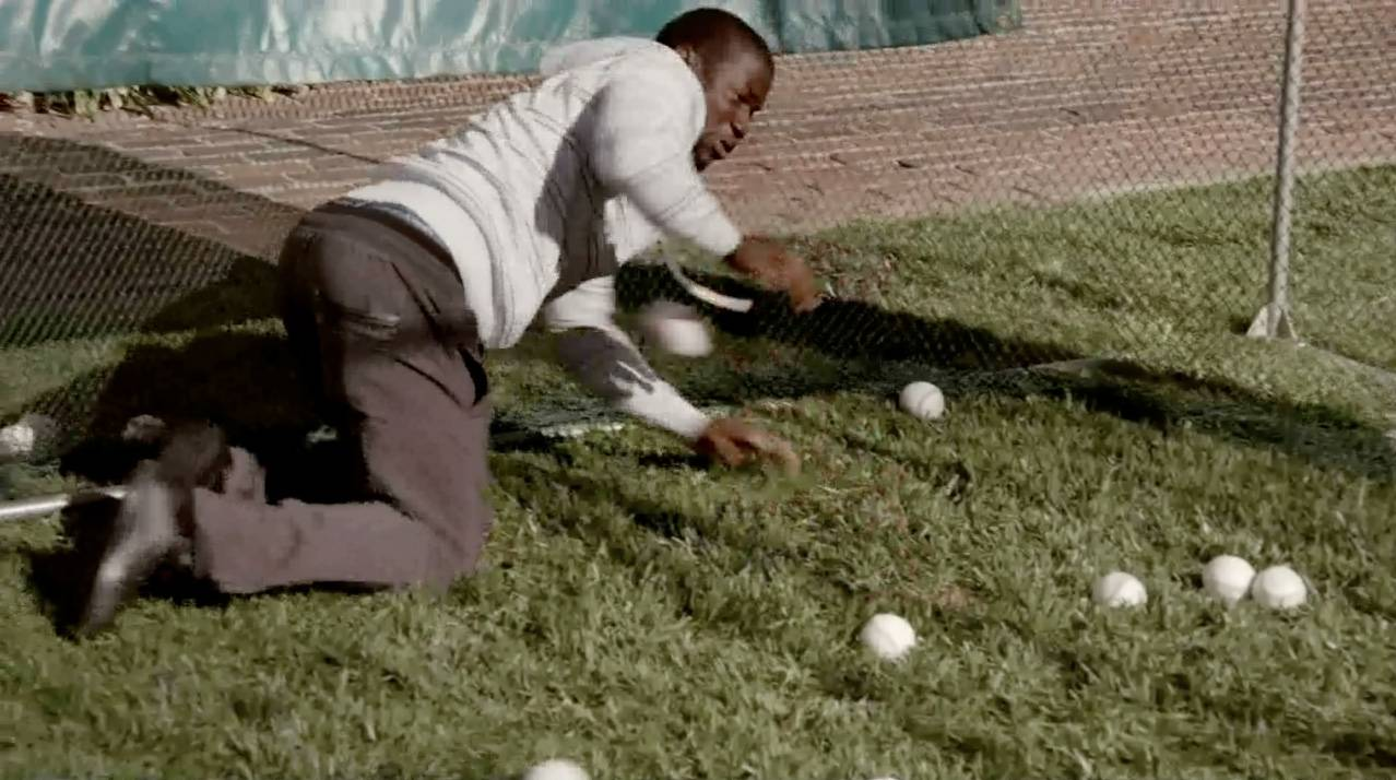 And When He Goes to the Batting Cage, He Still Fails at Swinging - There are some things Kevin should just not do.  (Photo: BET)