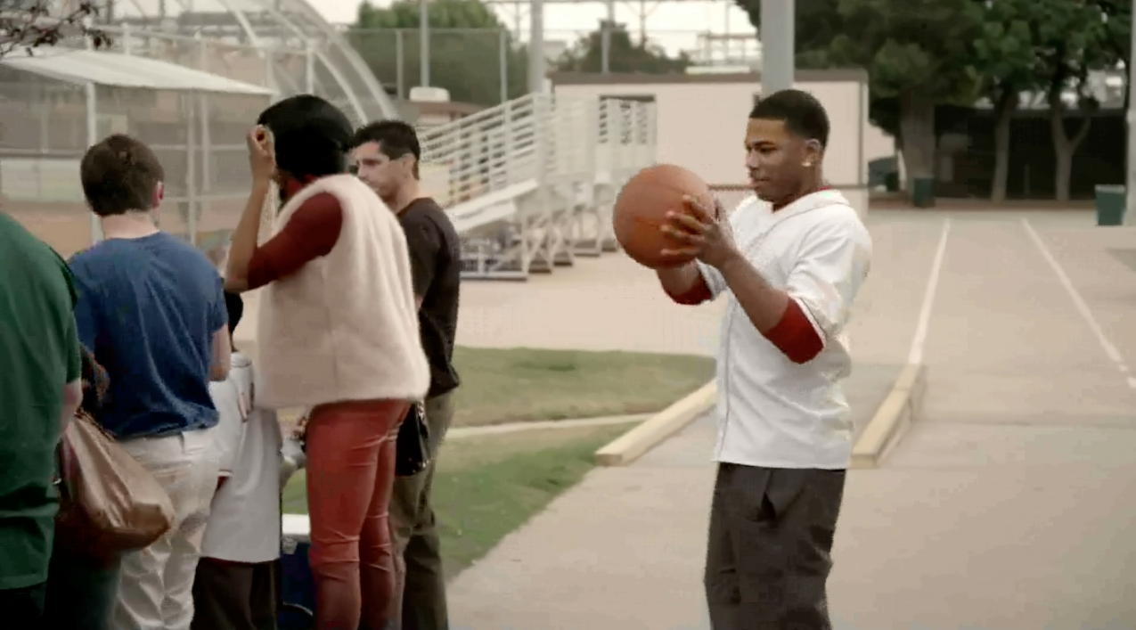Pass Received - Nelly knows how to ball.  (Photo: BET)