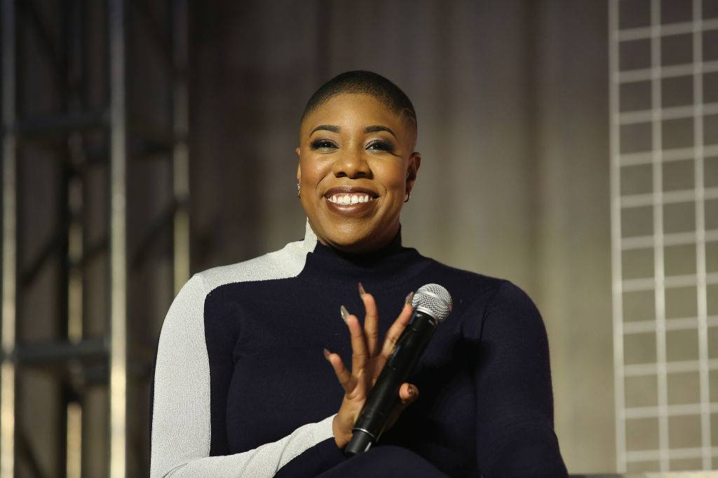 Symone Sanders - Political talking heads often spew the same rhetoric, but you can always count on straight dope when it comes to commentary from Symone Sanders. Recently named as part of the Biden-Harris White House communications team as the Chief Spokesperson for vice-president elect, Kamala Harris, Sanders first made a name for herself during the 2016 election as national press secretary for Bernie Sanders. A constant presence on CNN, she tried to tell the world what many already knew: how awful a Trump presidency would be for anyone not rich and white. Sanders is currently on the short list to become Biden's press secretary, which would make her the first Black woman to hold the position. (Photo by JP Yim/Getty Images for Girlboss Rally NYC 2018)